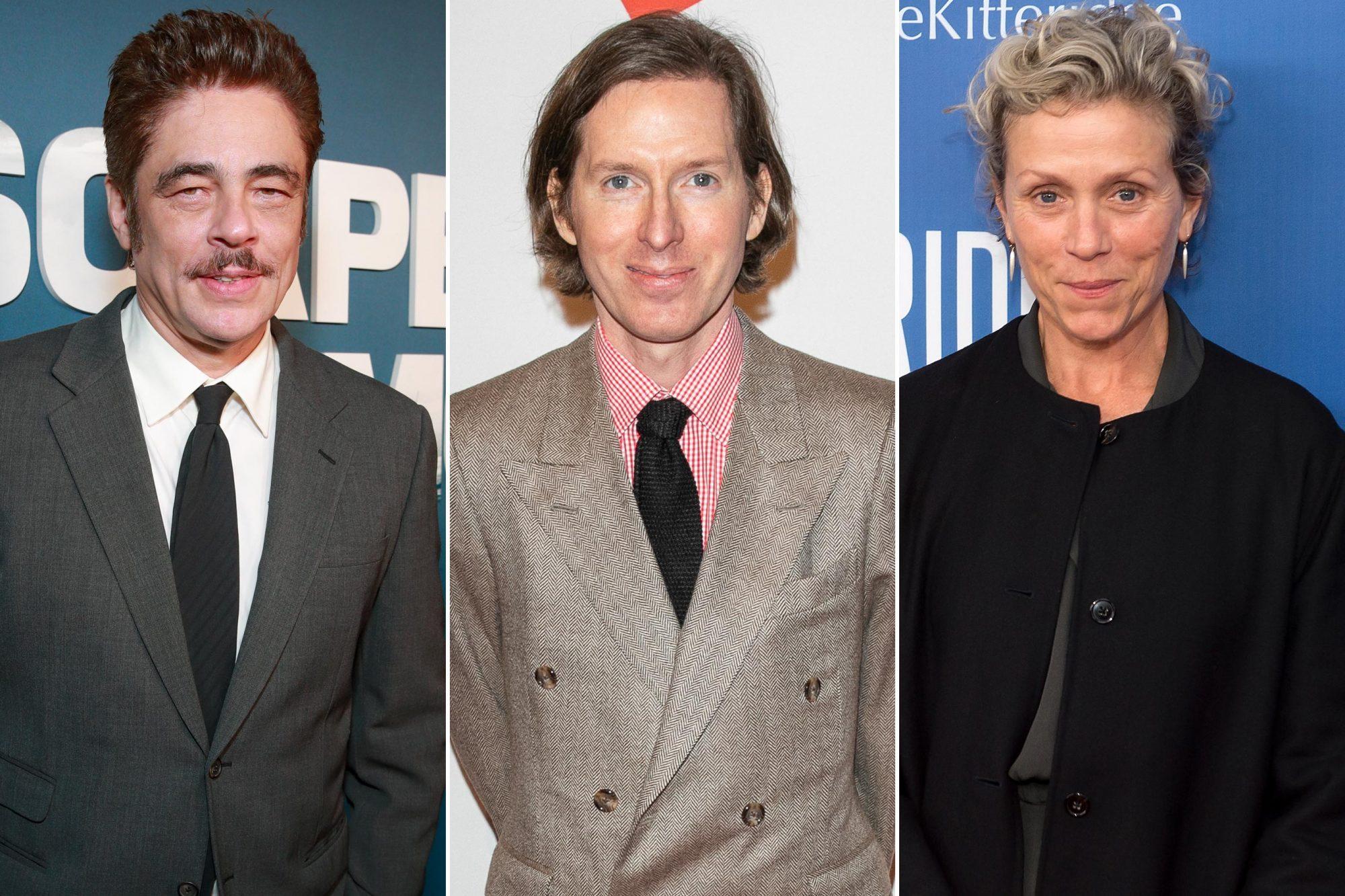 Benicio Del Toro; Wes Anderson; Frances McDormand