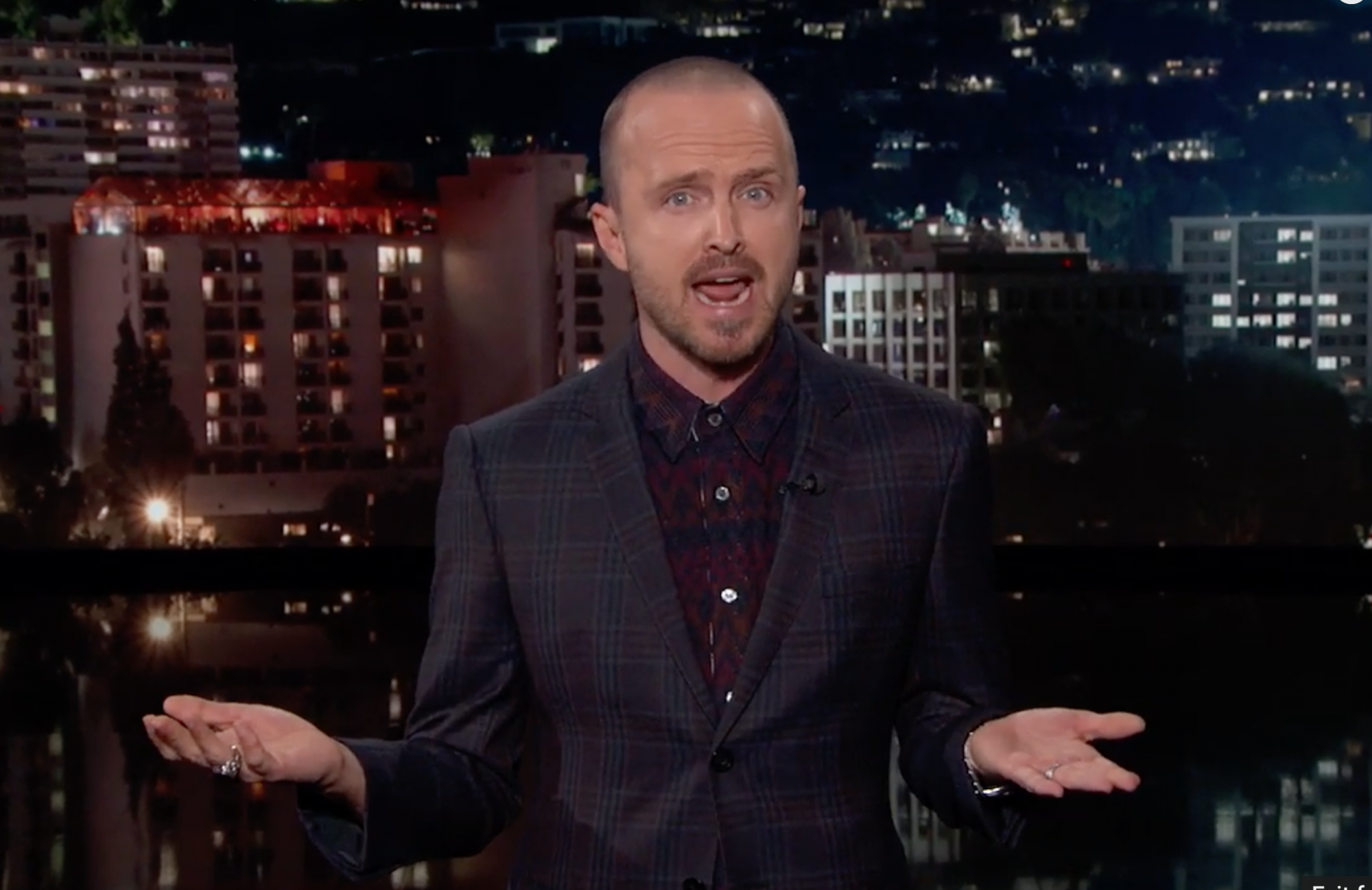 Jimmy Kimmel Live! Aaron Paul