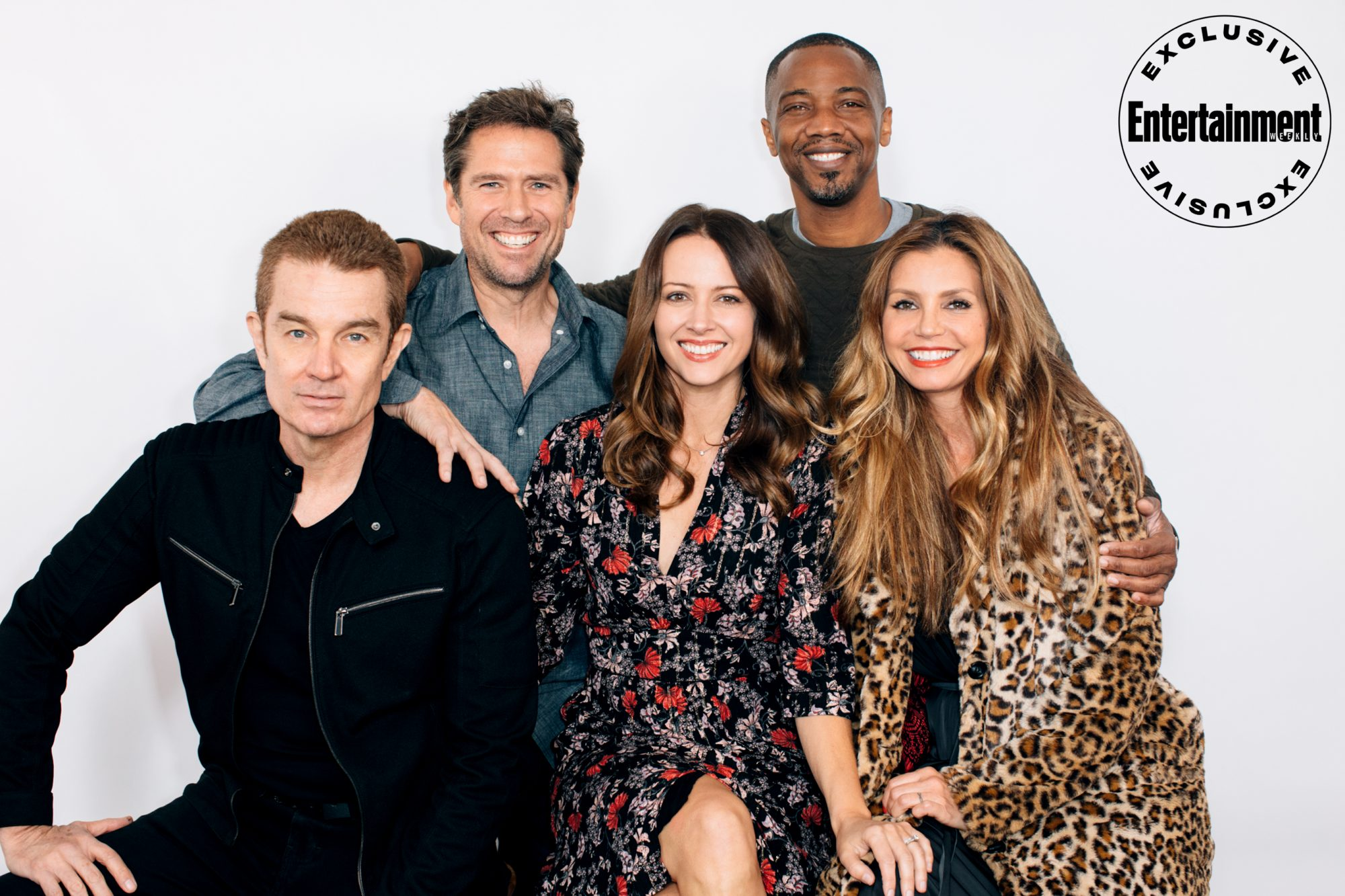 James Marsters, Alexis Denisof, Amy Acker, J. August Richards, and Charisma Carpenter from Angel