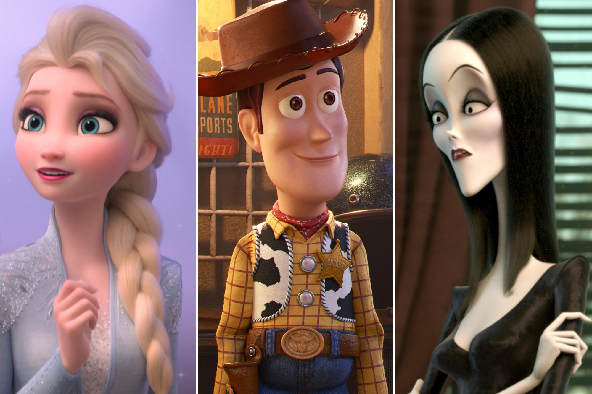 Frozen 2; Toy Story 4; The Addams Family