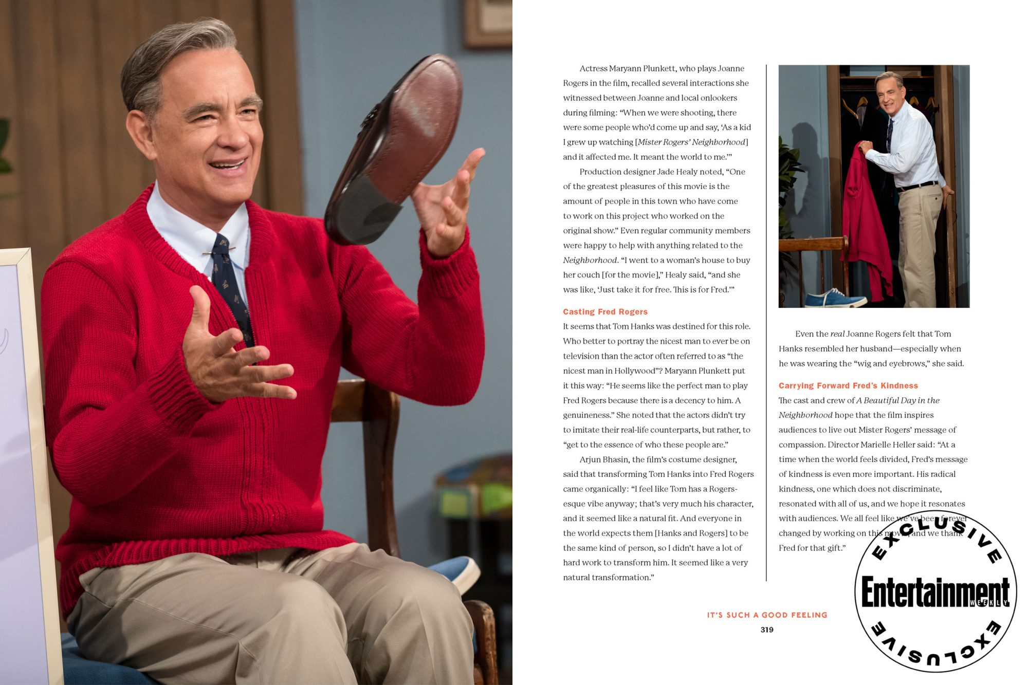 Joanne Rogers On Tom Hanks In A Beautiful Day In The Neighborhood Ew Com