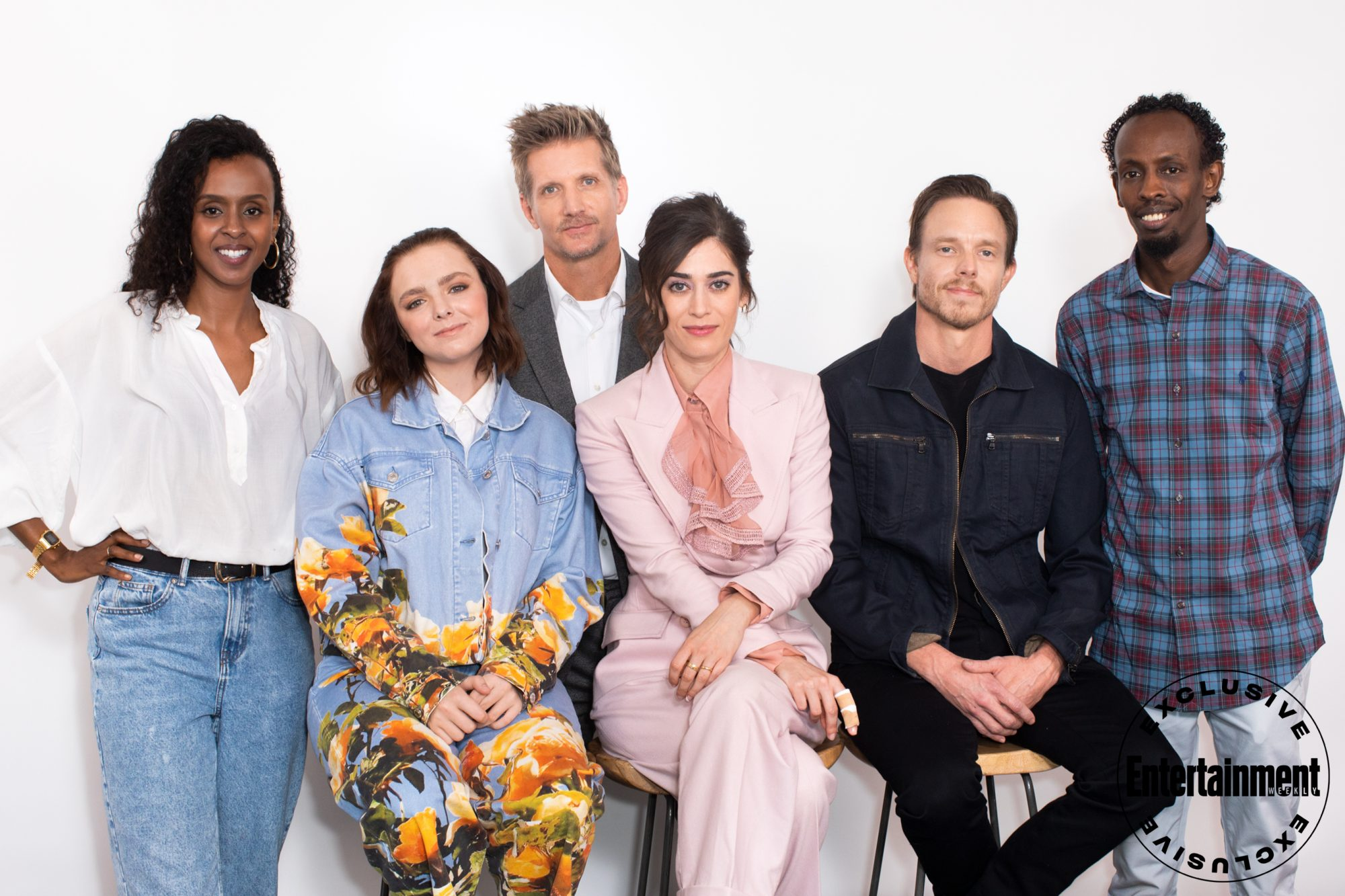 Yusra Warsama, Elsie Fisher, Paul Sparks, Lizzy Caplan, Matthew Alan, and Barkhad Abdi from Castle Rock