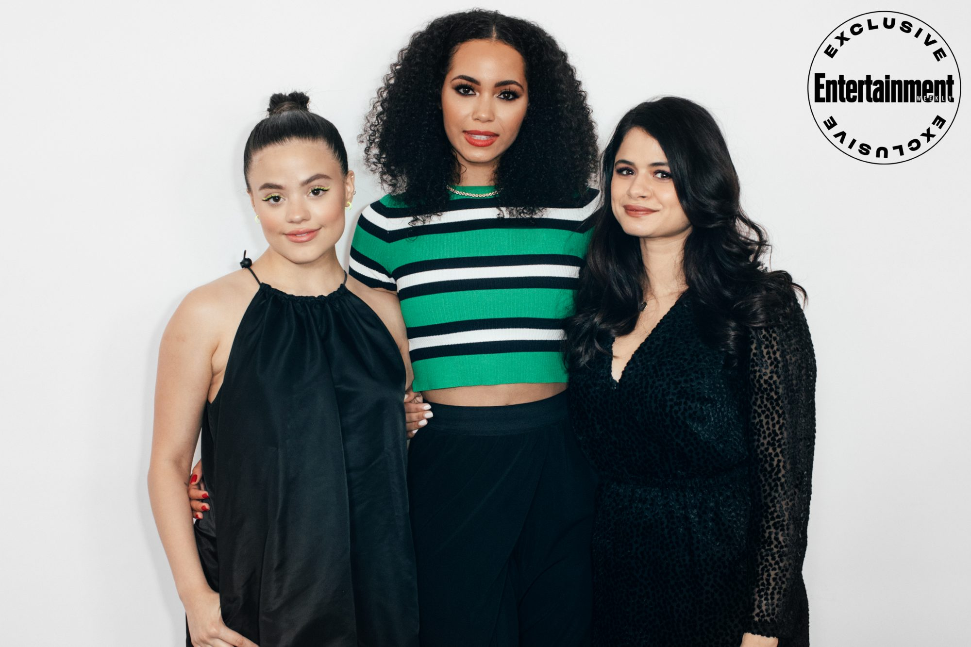 Sarah Jeffery, Madeleine Mantock, and Melonie Diaz from Charmed