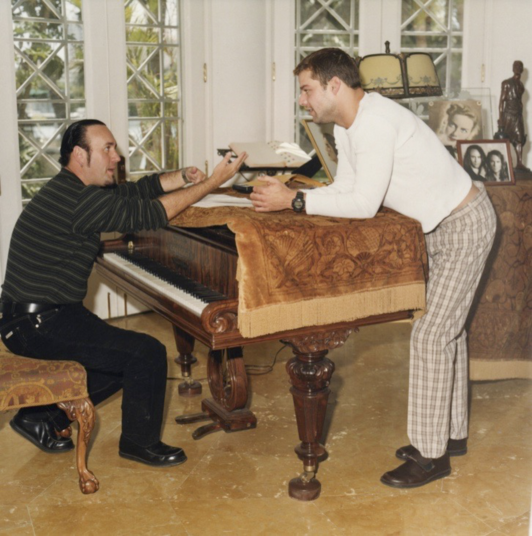 Desmond Child & Ricky Martin at piano_Miami Beach_Photo by Curtis Shaw Child