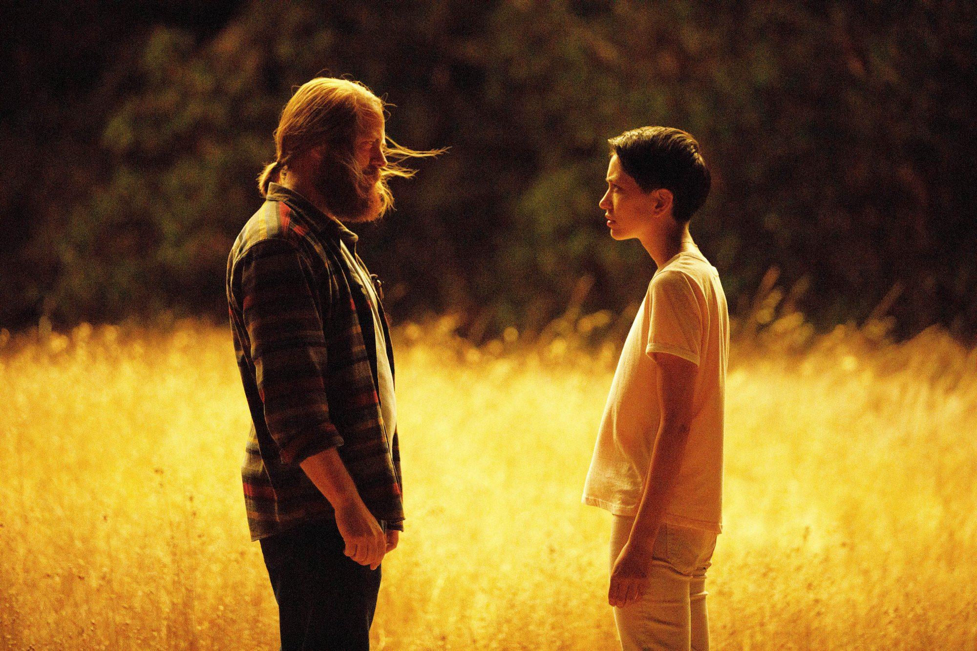 Nick Offerman as Forest, Sonoya Mizuno as Lily Chan in DEVS