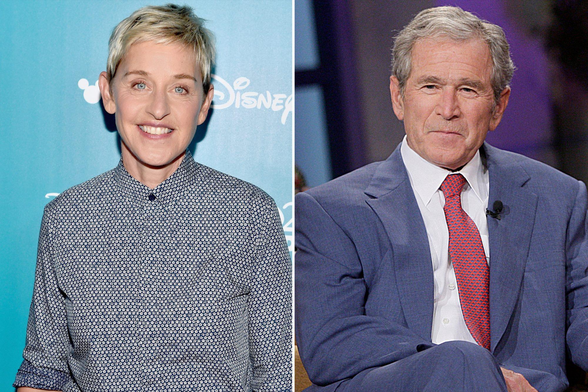 Ellen DeGeneres, George W. Bush
