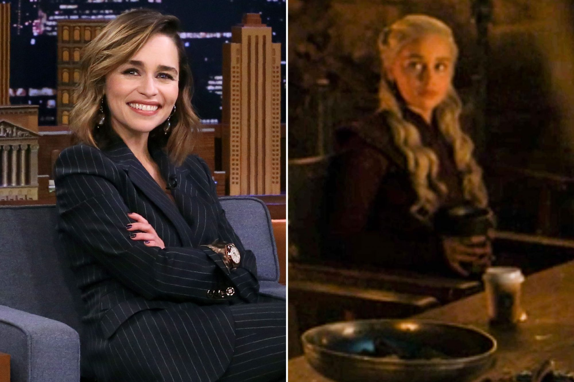 Emilia Clarke; Game of Thrones coffee cup gaffe