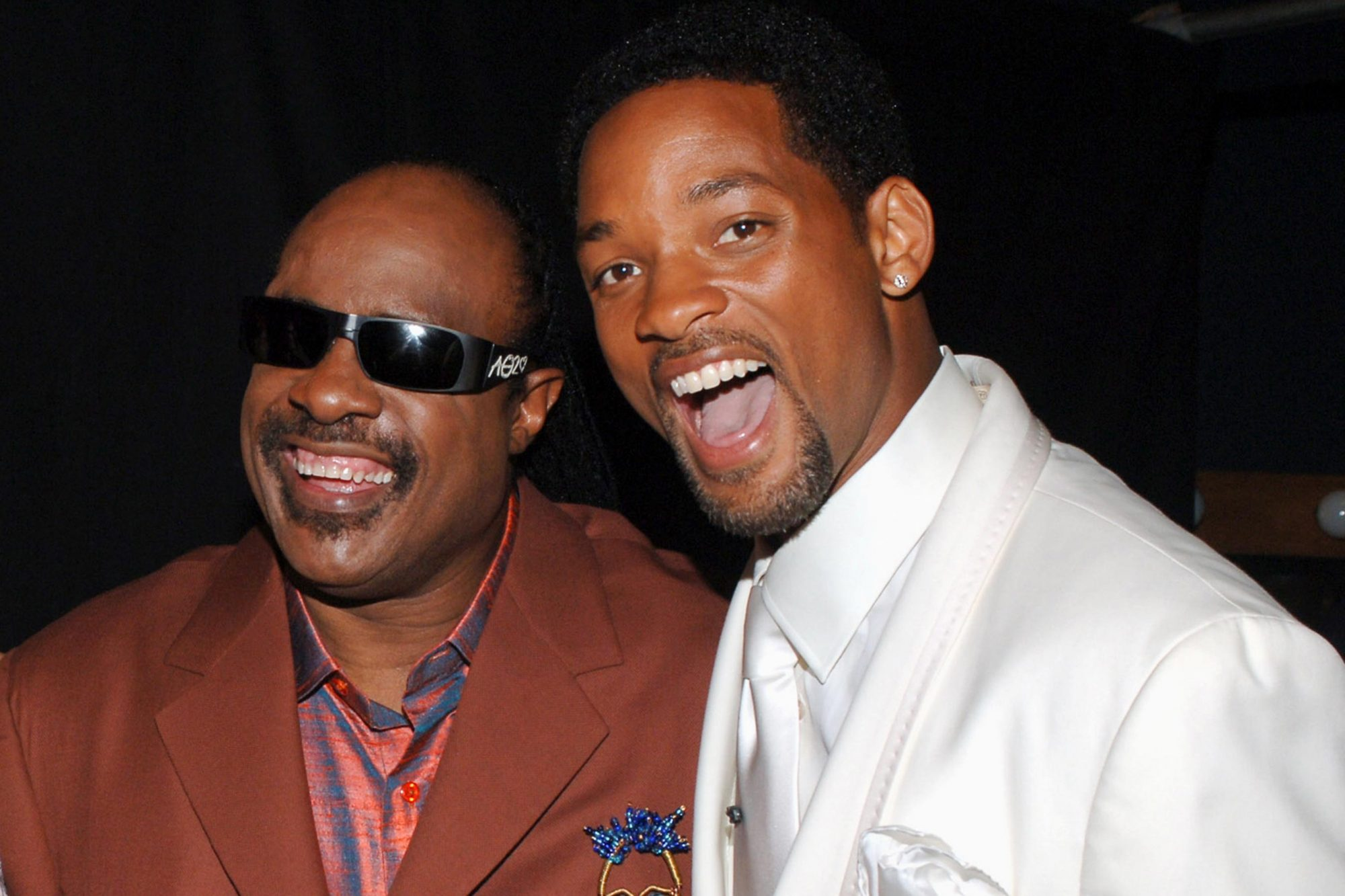 Stevie Wonder and Will Smith