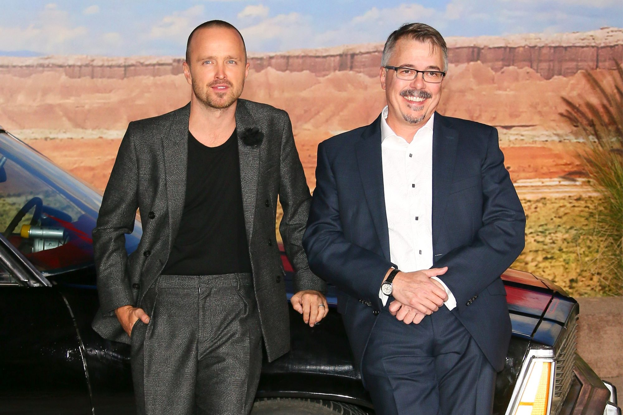 Aaron Paul and Vince Gilligan