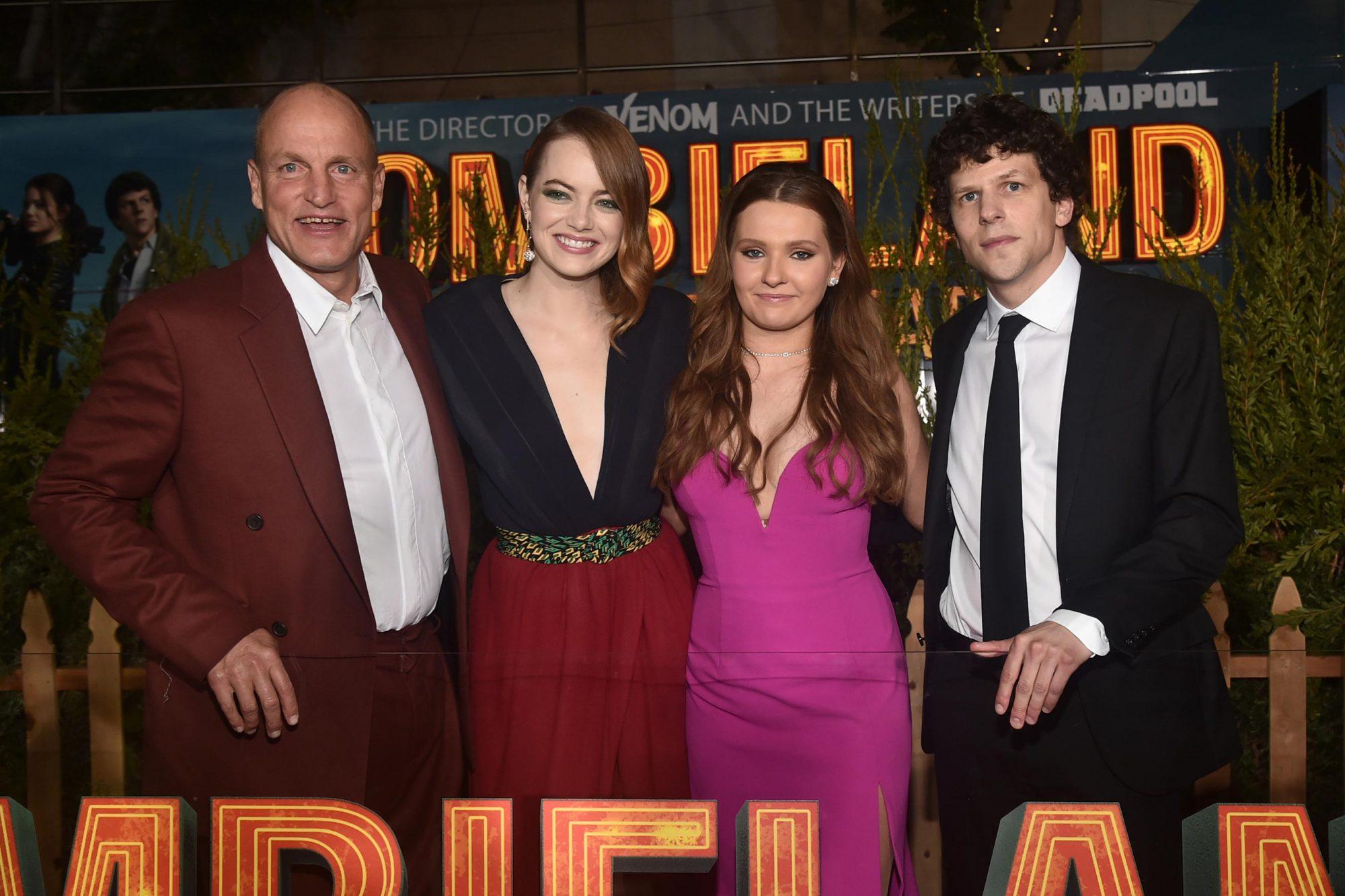 Woody Harrelson, Emma Stone, Abigail Breslin and Jesse Eisenberg