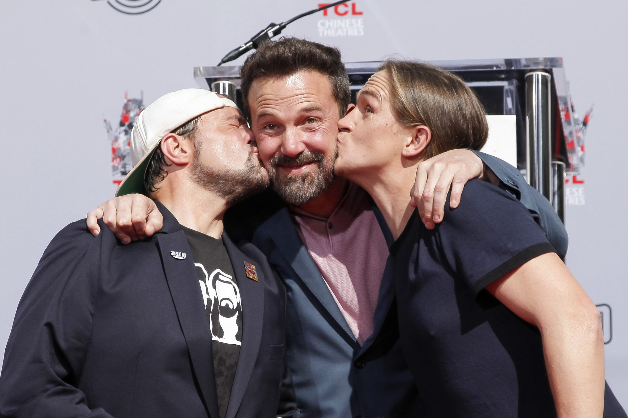 Kevin Smith And Jason Mewes Hands And Footprint Ceremony At TCL Chinese Theatre