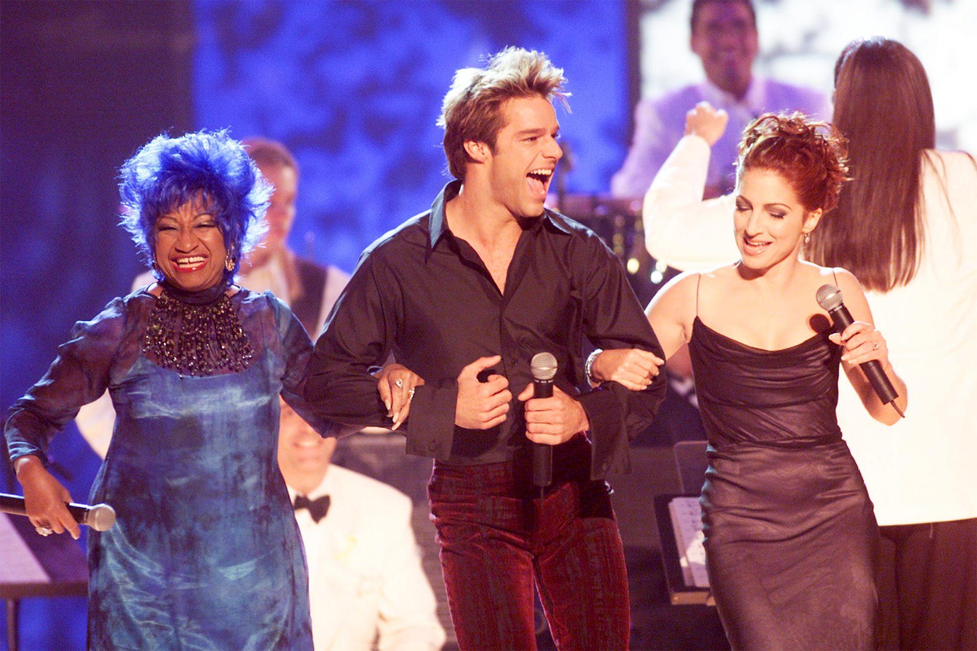 Celia Cruz, Ricky Martin, and Gloria Estefan