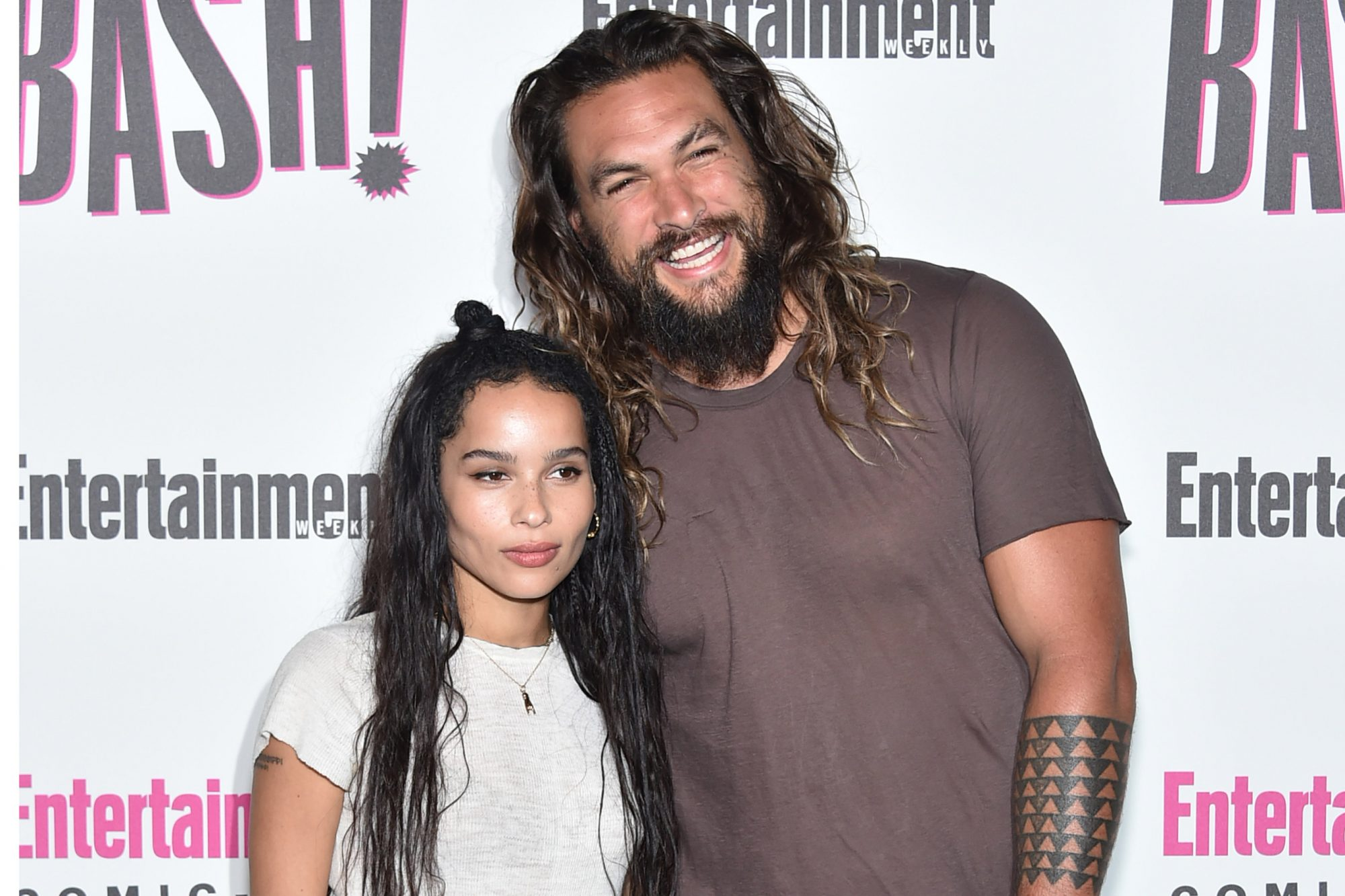 Zoe Kravitz and Jason Momoa