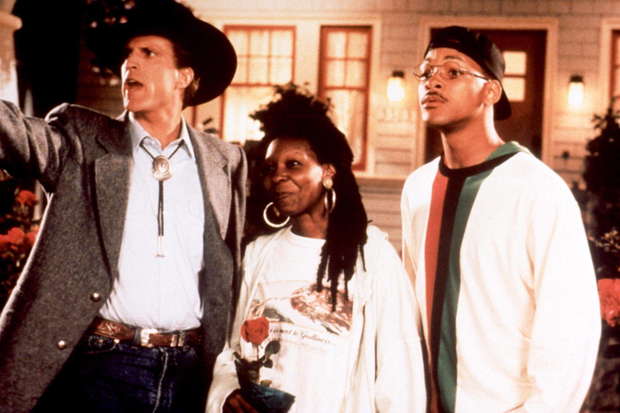 MADE IN AMERICA, Ted Danson, Whoopi Goldberg, Will Smith, 1993, cowboy hat