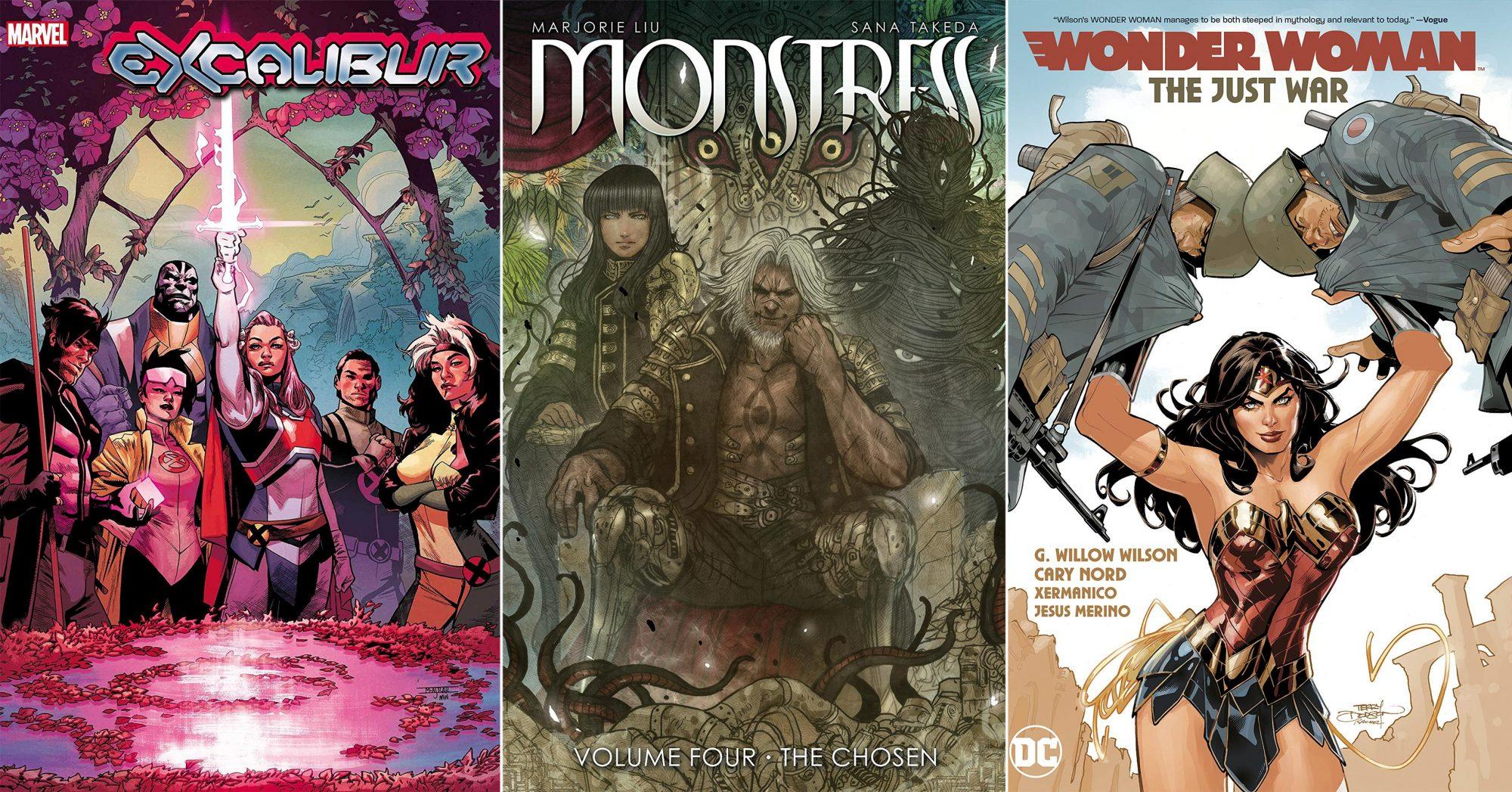 October Comics tout Excalibur, Monstress, Wonder Woman