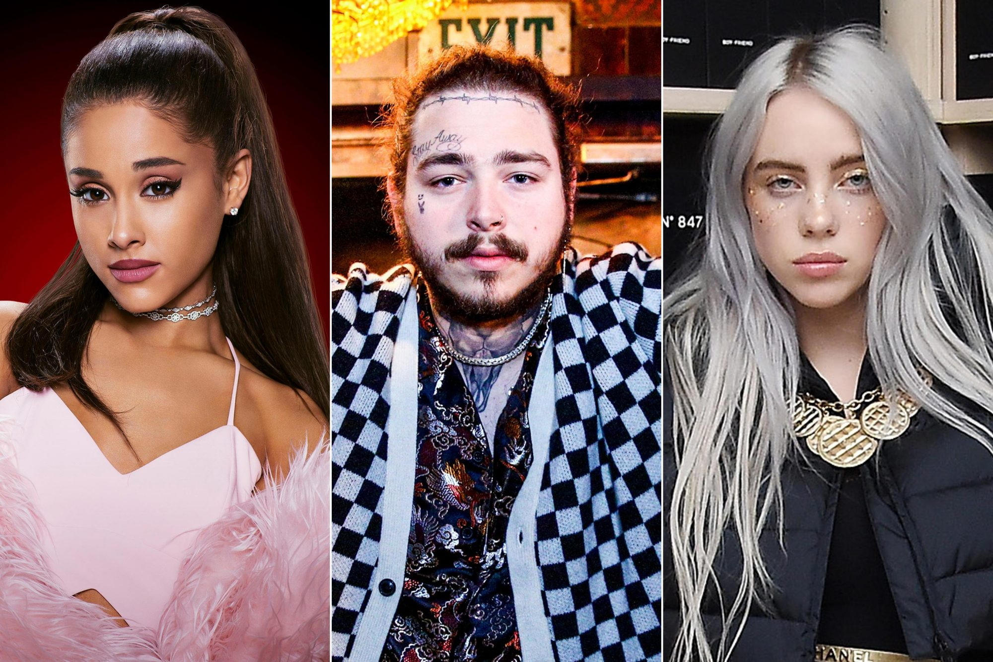 Post Malone, Ariana Grande, Billie Eilish