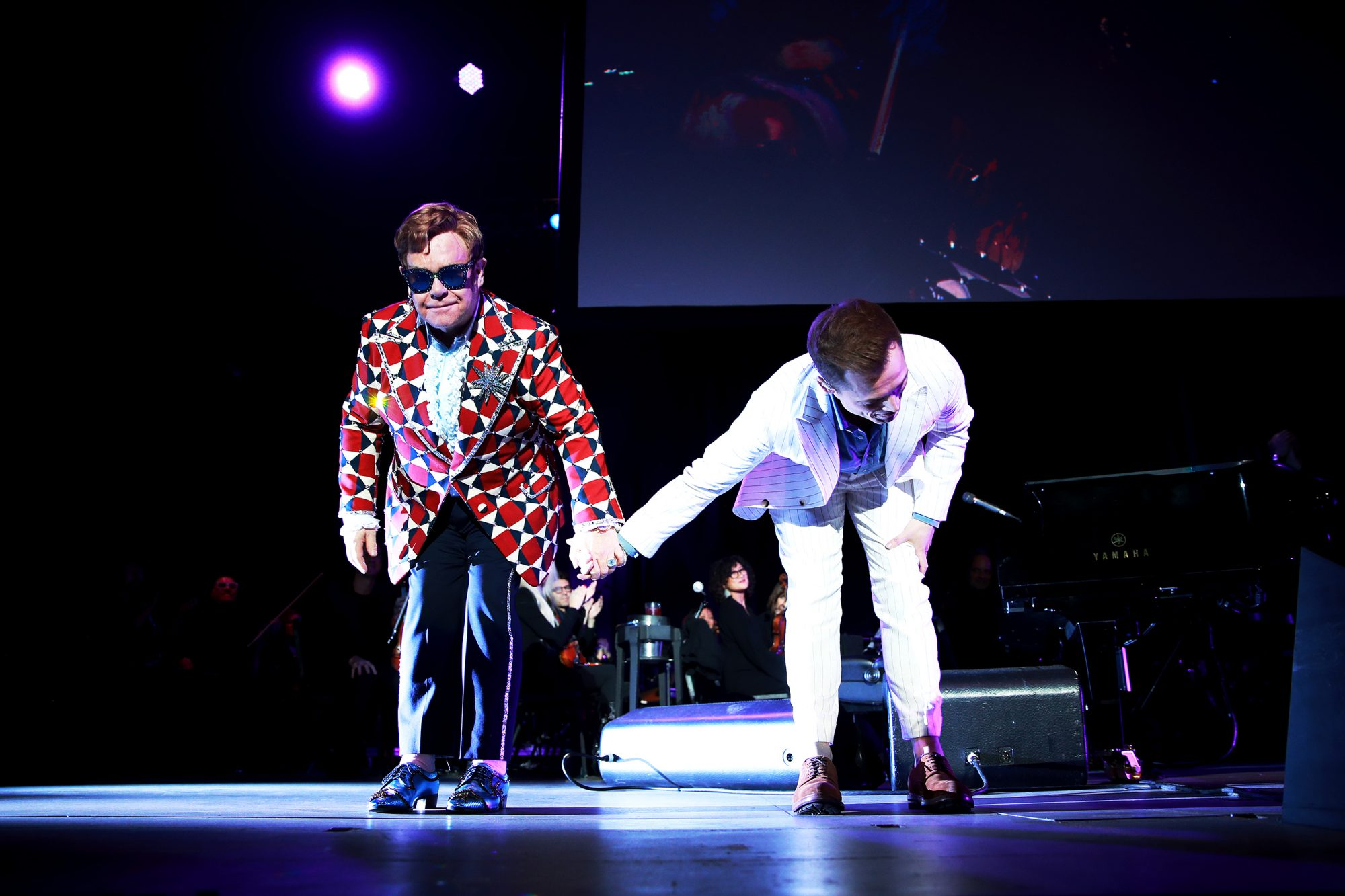 Elton John and Taron Egerton