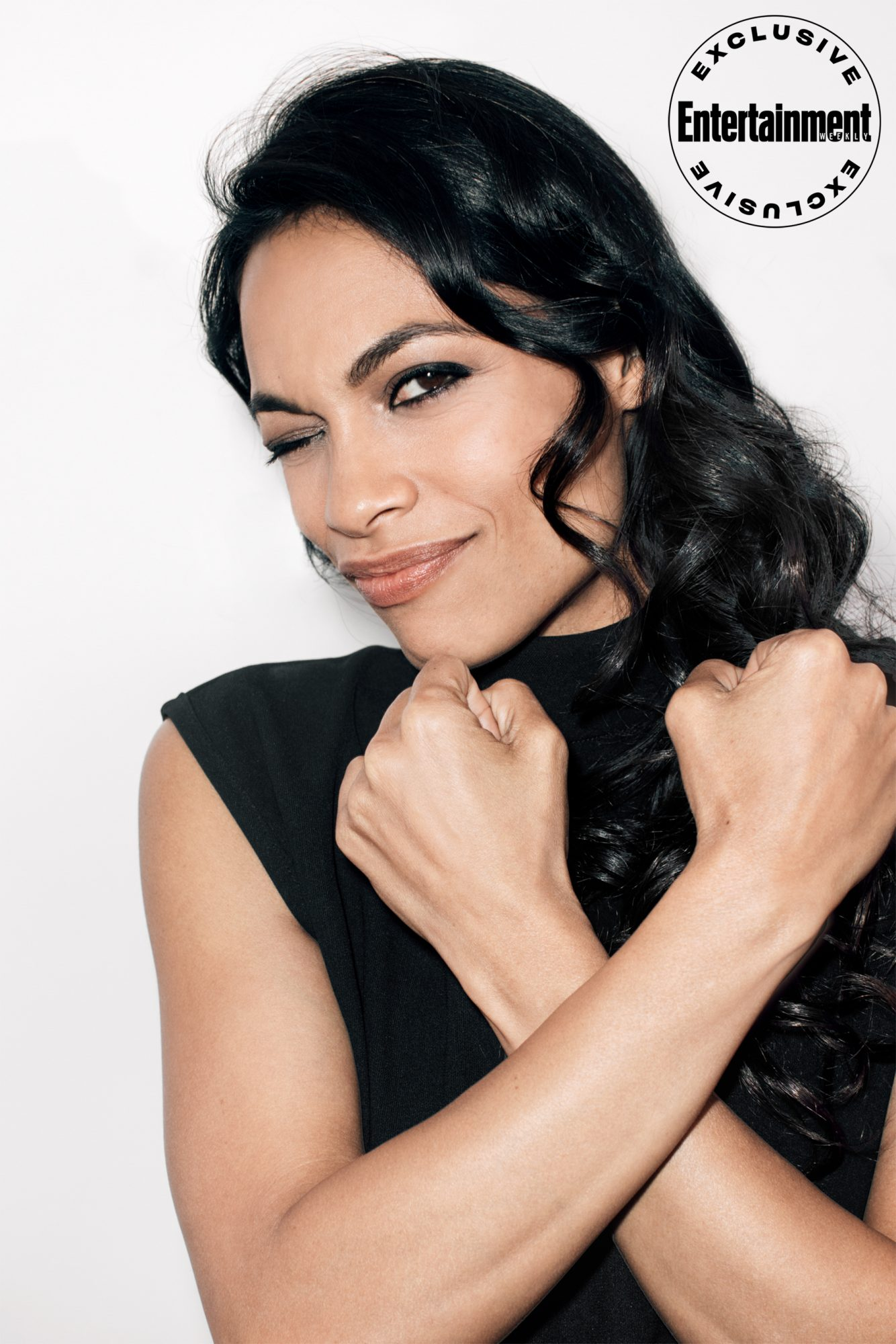 Rosario Dawson from Wonder Woman: Bloodlines photographed at New York Comic Con 2019 by Ben Ritter for Entertainment Weekly. Credit: Ben Ritter for EW