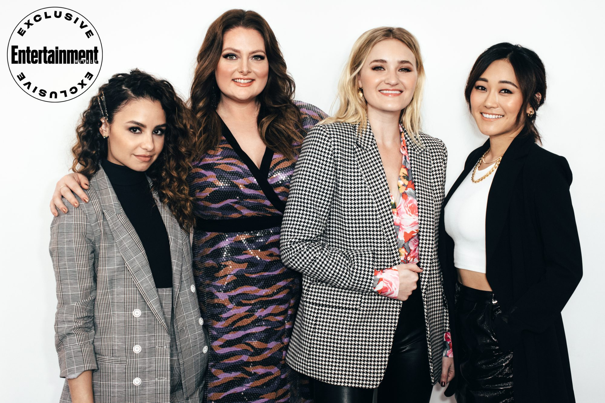 Aimee Carrero, Lauren Ash, AJ Michalka, and Karen Fukuhara from She-Ra and the Princesses of Power