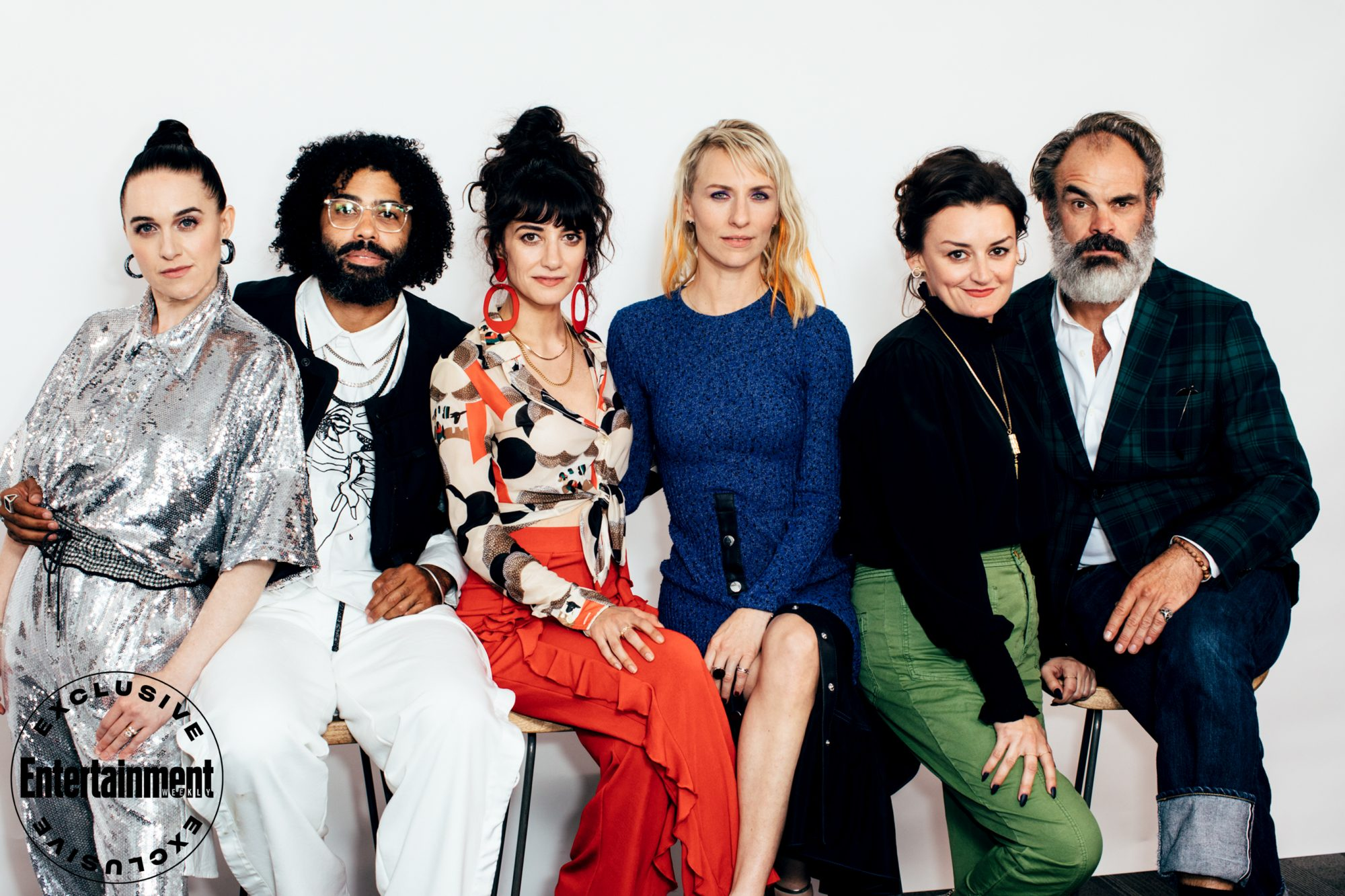 Lena Hall, Daveed Diggs, Sheila Vand, Mickey Sumner, Alison Wright, and Steven Ogg from Snowpiercer