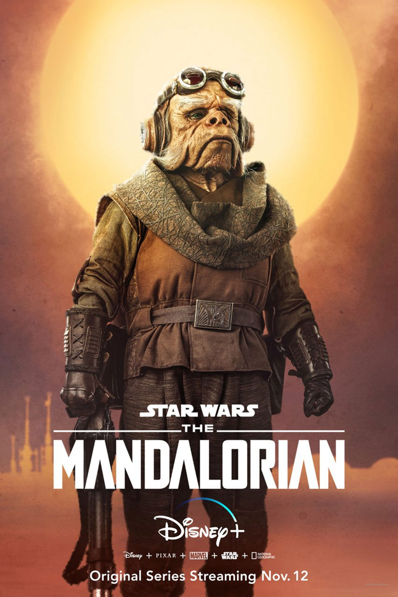 The Mandalorian character poster