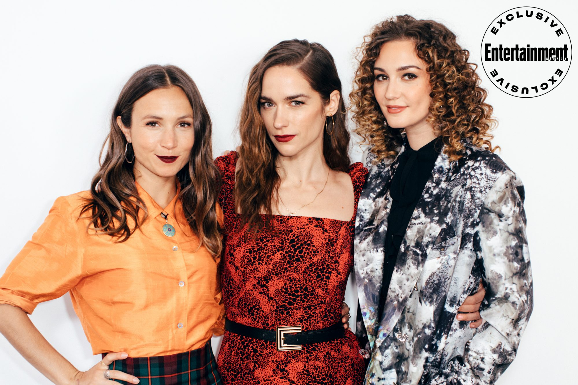 Dominique Provost-Chalkley, Melanie Scrofano, and Katherine Barrell from Wynonna Earp