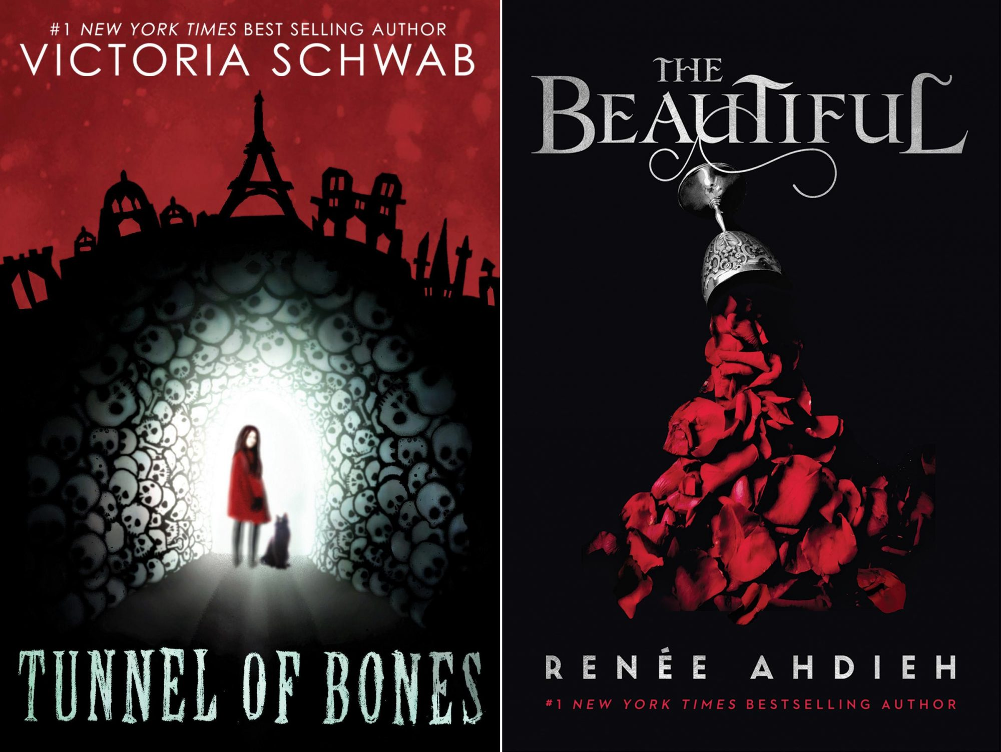 Tunnel of Bones by Victoria Schwab CR: Scholastic The Beautiful by Renee Ahdieh CR: Penguin Random House