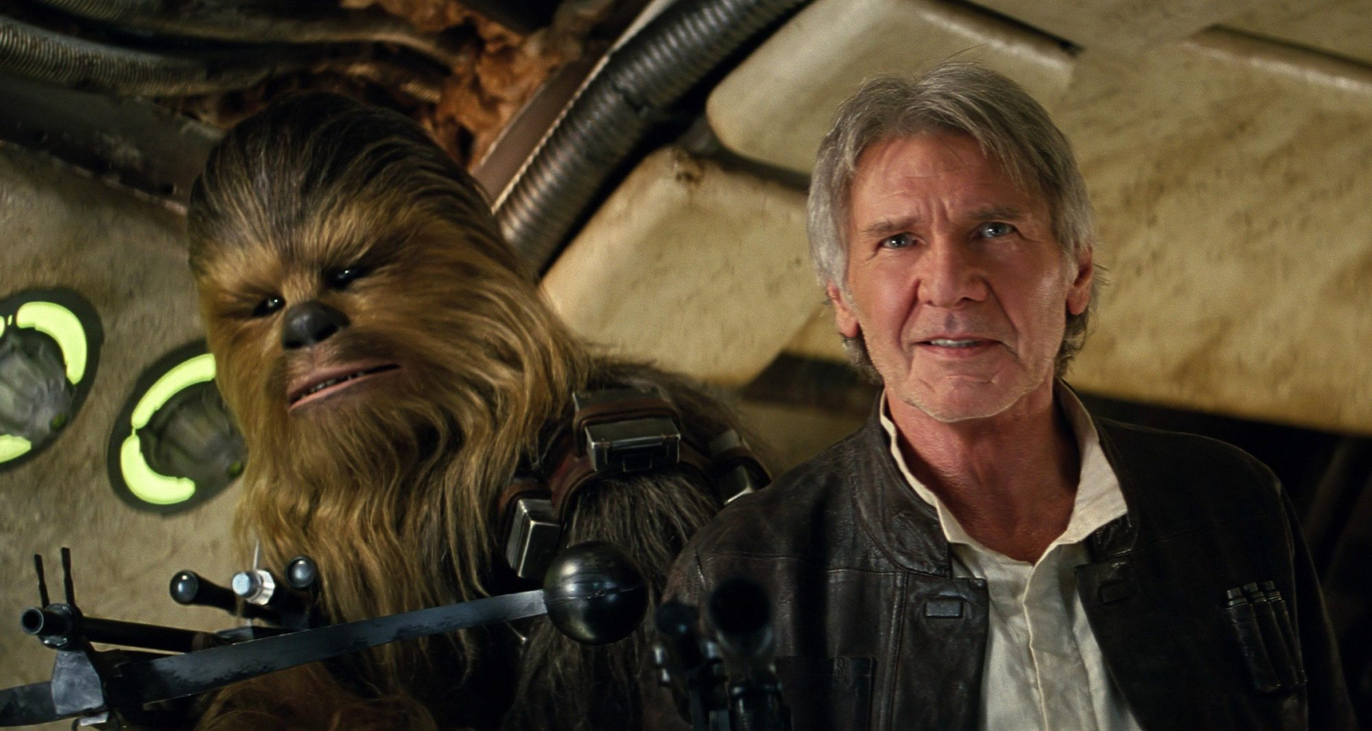 Star Wars: The Force Awakens  - Episode VII (2015)Chewbacca and Harrison Ford
