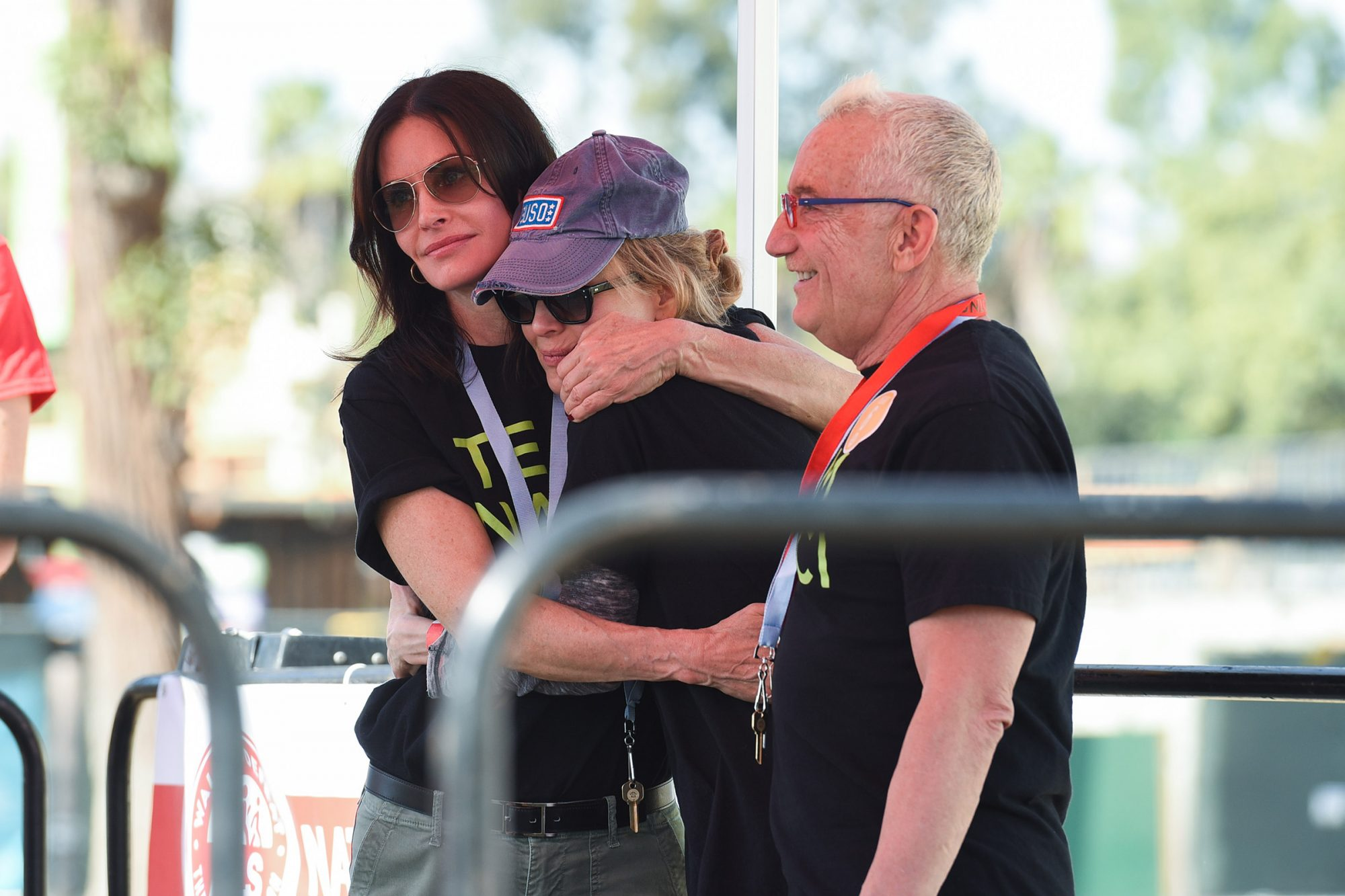 """Nanci Ryder, Courtney Cox and Renée Zellweger participate in Nanci Ryder's """"Team Nanci"""" In The 16th Annual LA County Walk To Defeat ALS at Exposition Park on November 04, 2018 in Los Angeles, California. (Photo by Presley Ann/Getty Images)"""