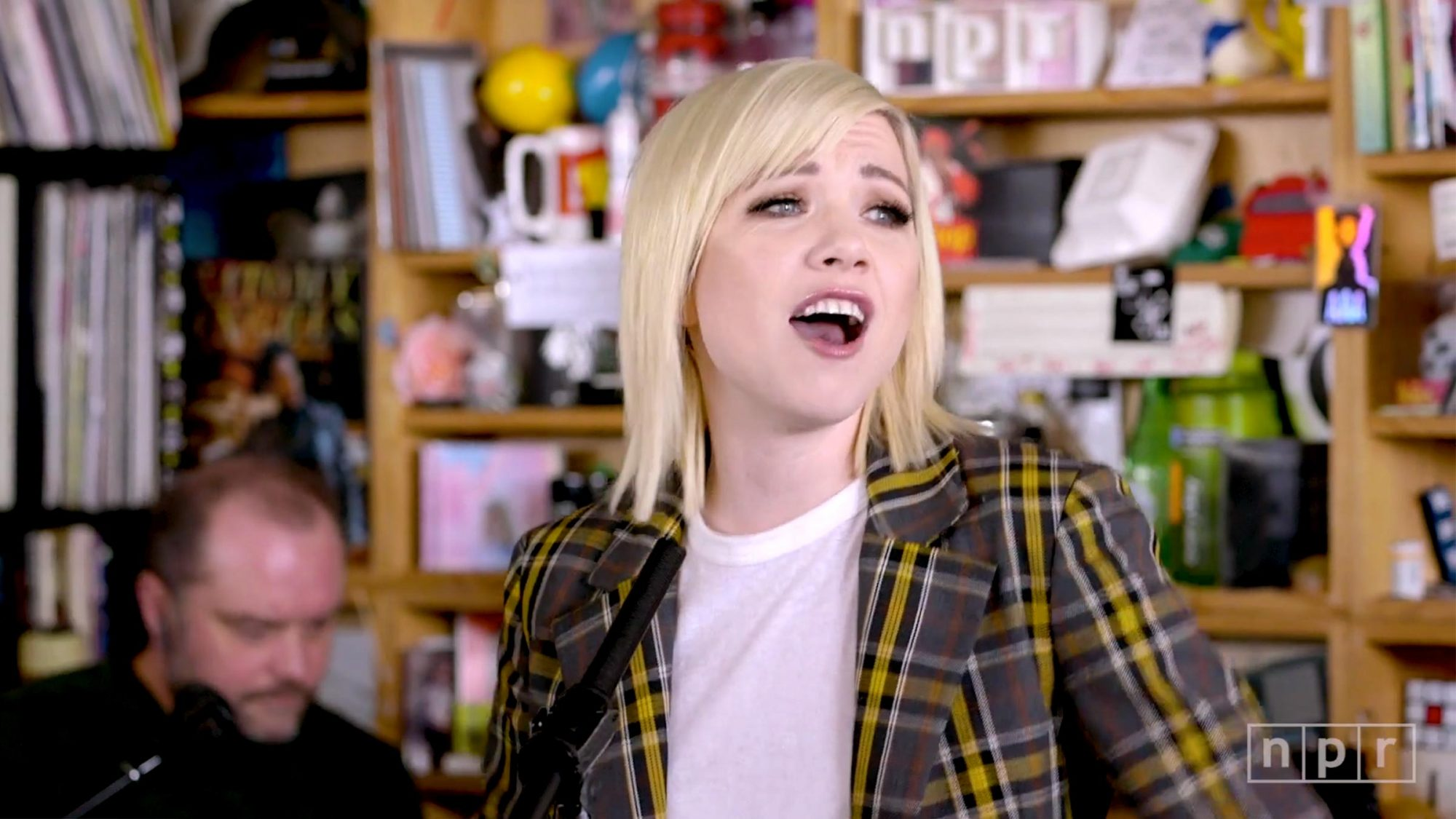 Carly Rae Jepsen: Tiny Desk Concert (screen grab)