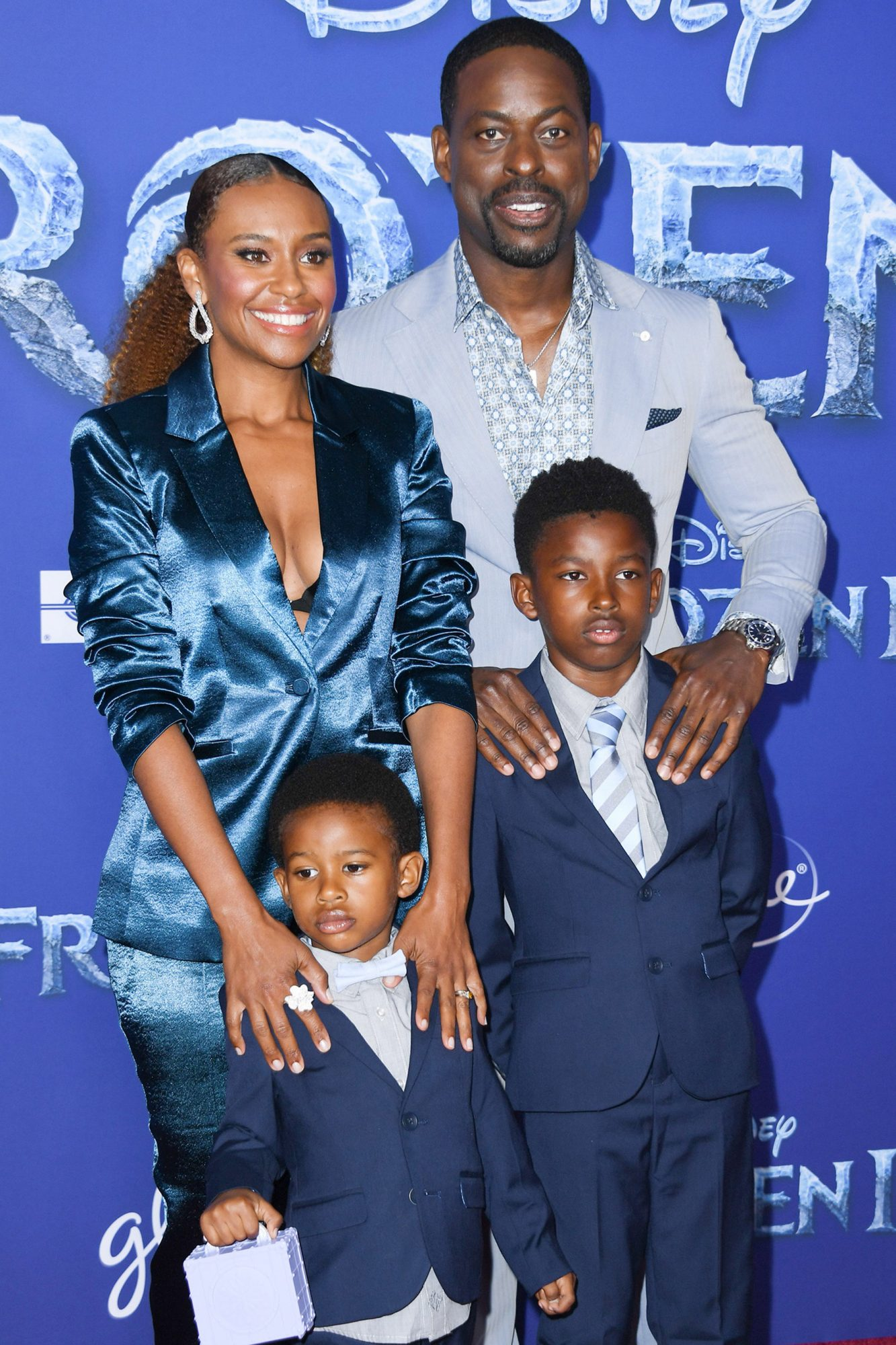 Sterling K. Brown (Mattias), Ryan Michelle Bathe, and their two sons Andrew (right) and Amare (left)