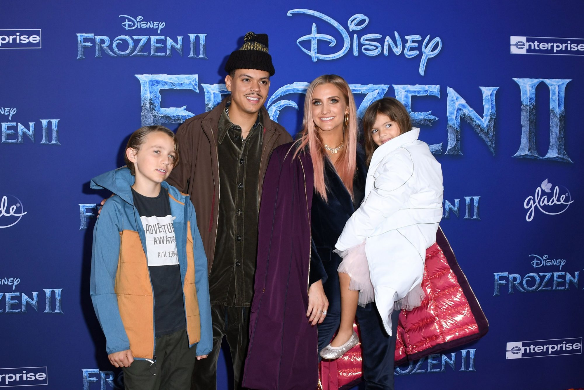 Evan Ross and Ashlee Simpson, with their daughter Jagger Snow Ross, and Simpson's son Bronx Wentz