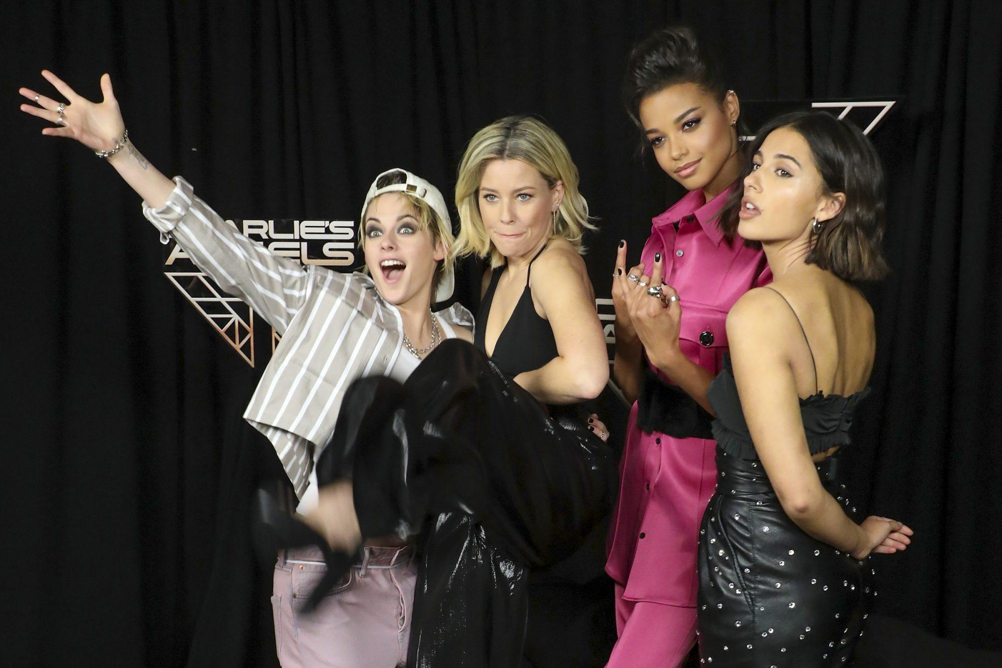Kristen Stewart, Elizabeth Banks, Ella Balinska, and Naomi Scott