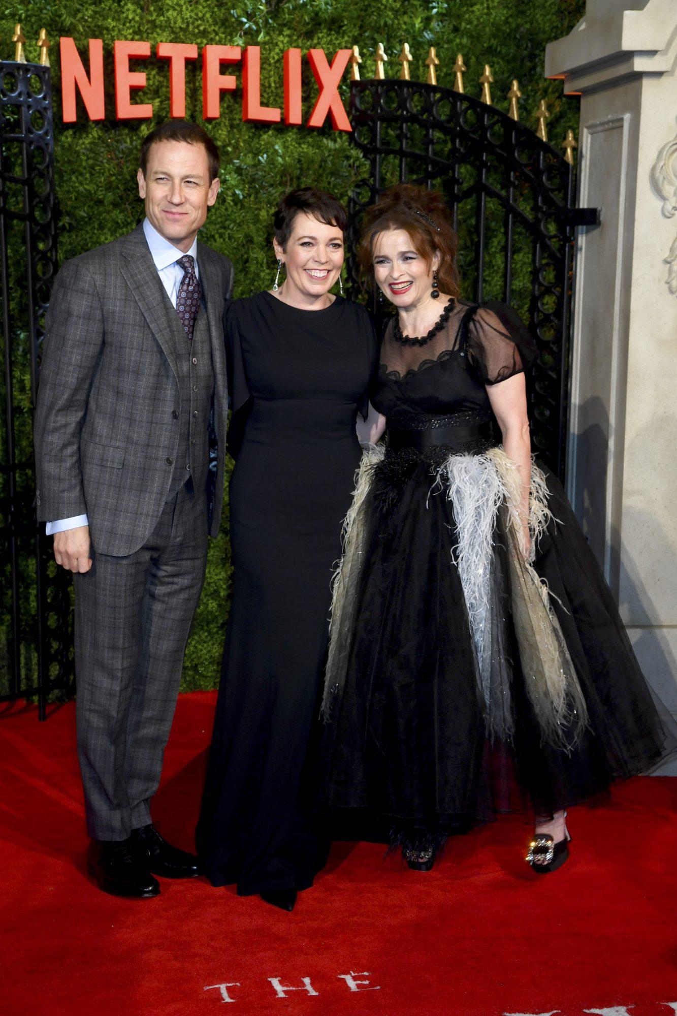 Olivia Colman, Tobias Menzies and Helena Bonham Carter