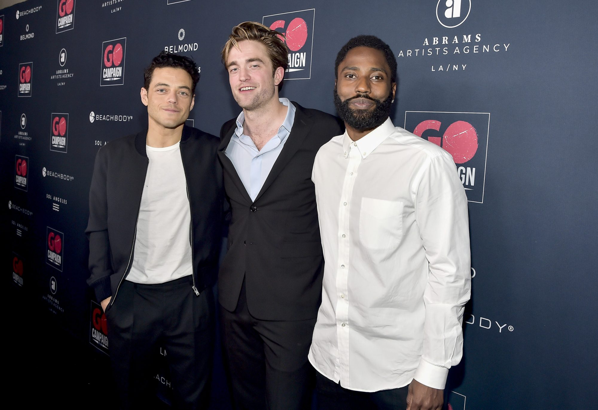 Rami Malek, Robert Pattinson and John David Washington