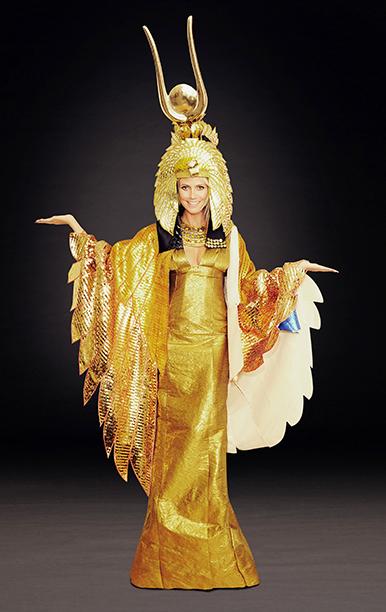 Heidi Klum as Cleopatra on September 3, 2012