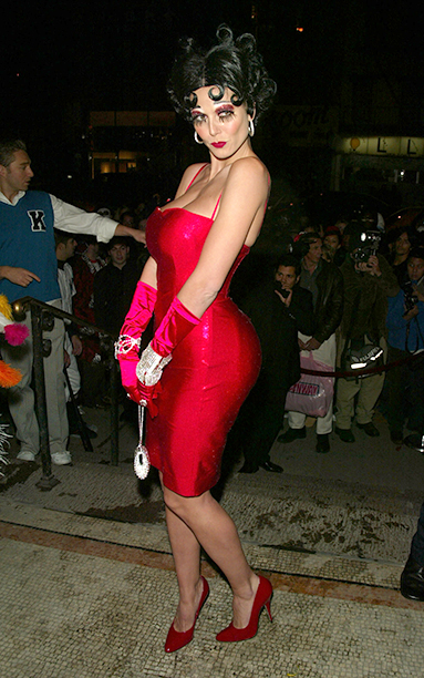 Heidi Klum as Betty Boop on October 31, 2002