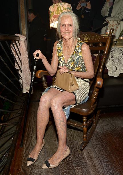 Heidi Klum as an Old Lady on October 31, 2013