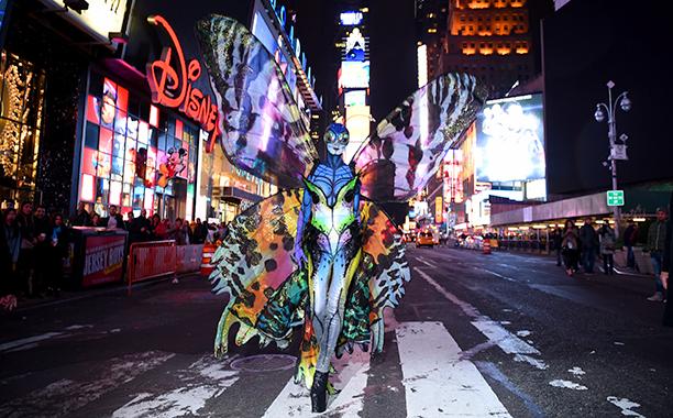 Heidi Klum as a Butterfly on October 31, 2014