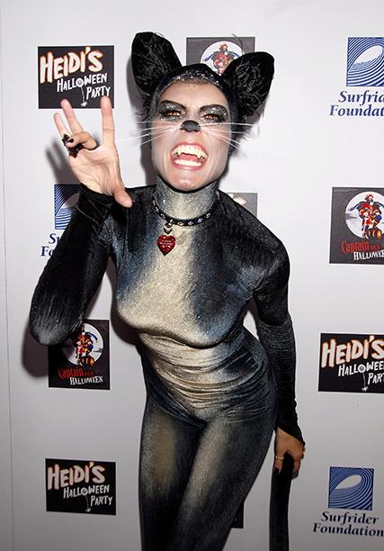 Heidi Klum as a Cat on October 31, 2007