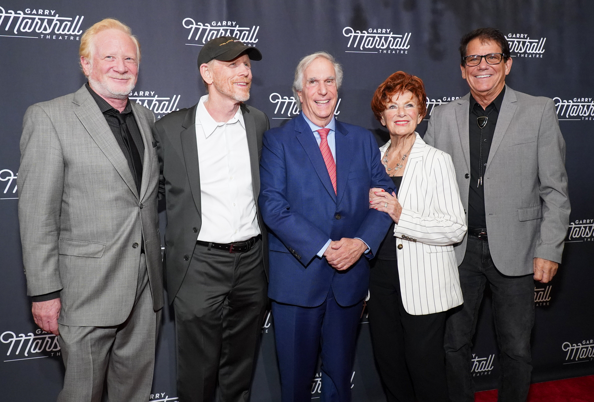 Don Most, Ron Howard, Henry Winkler, Marion Ross and Anson Williams