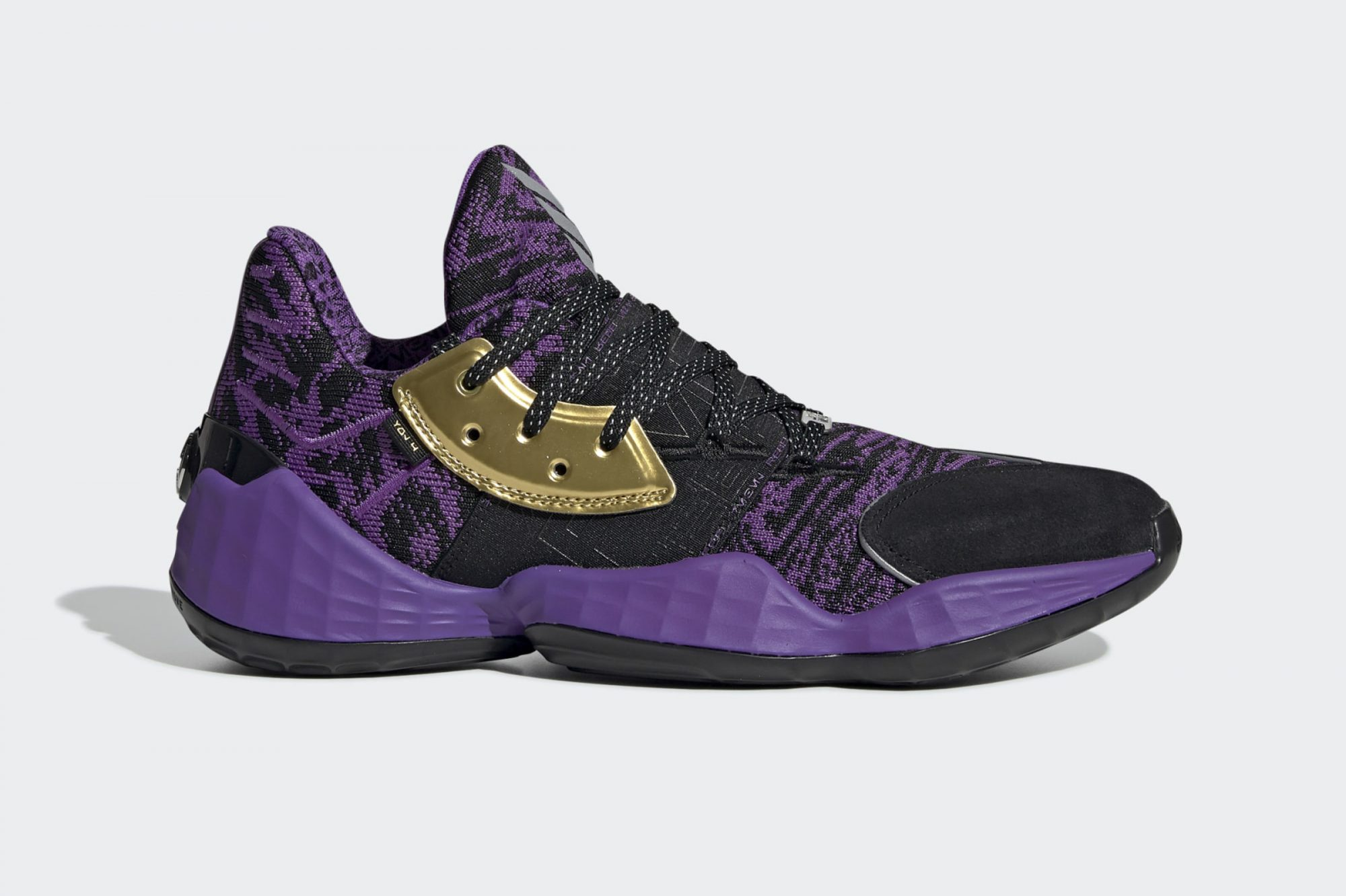 adidas Harden Vol. 4 Star Wars Lightsaber Purple Shoes from the Adidas Star Wars Sneaker Collection
