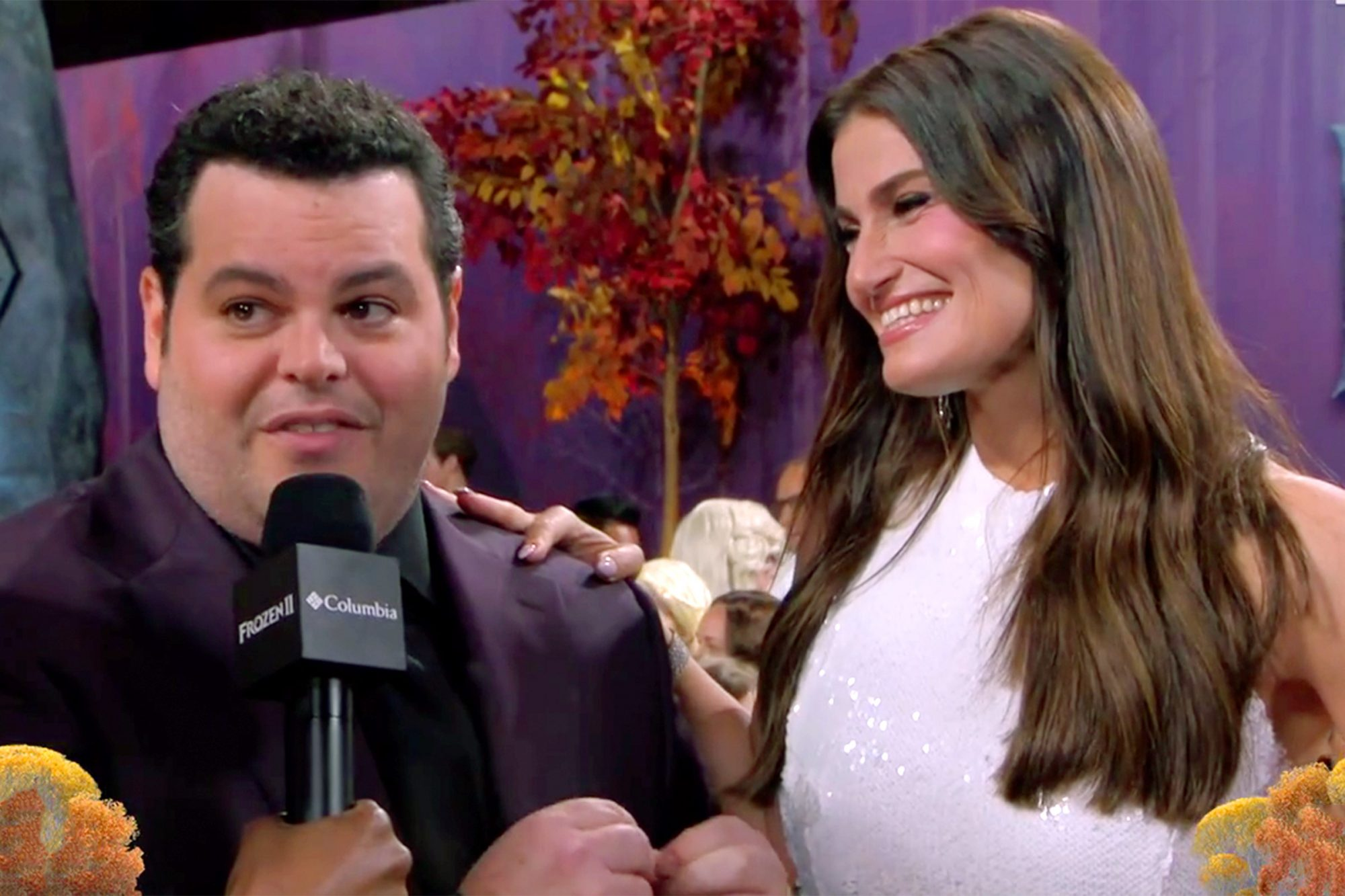 josh gad and Idina Menzel