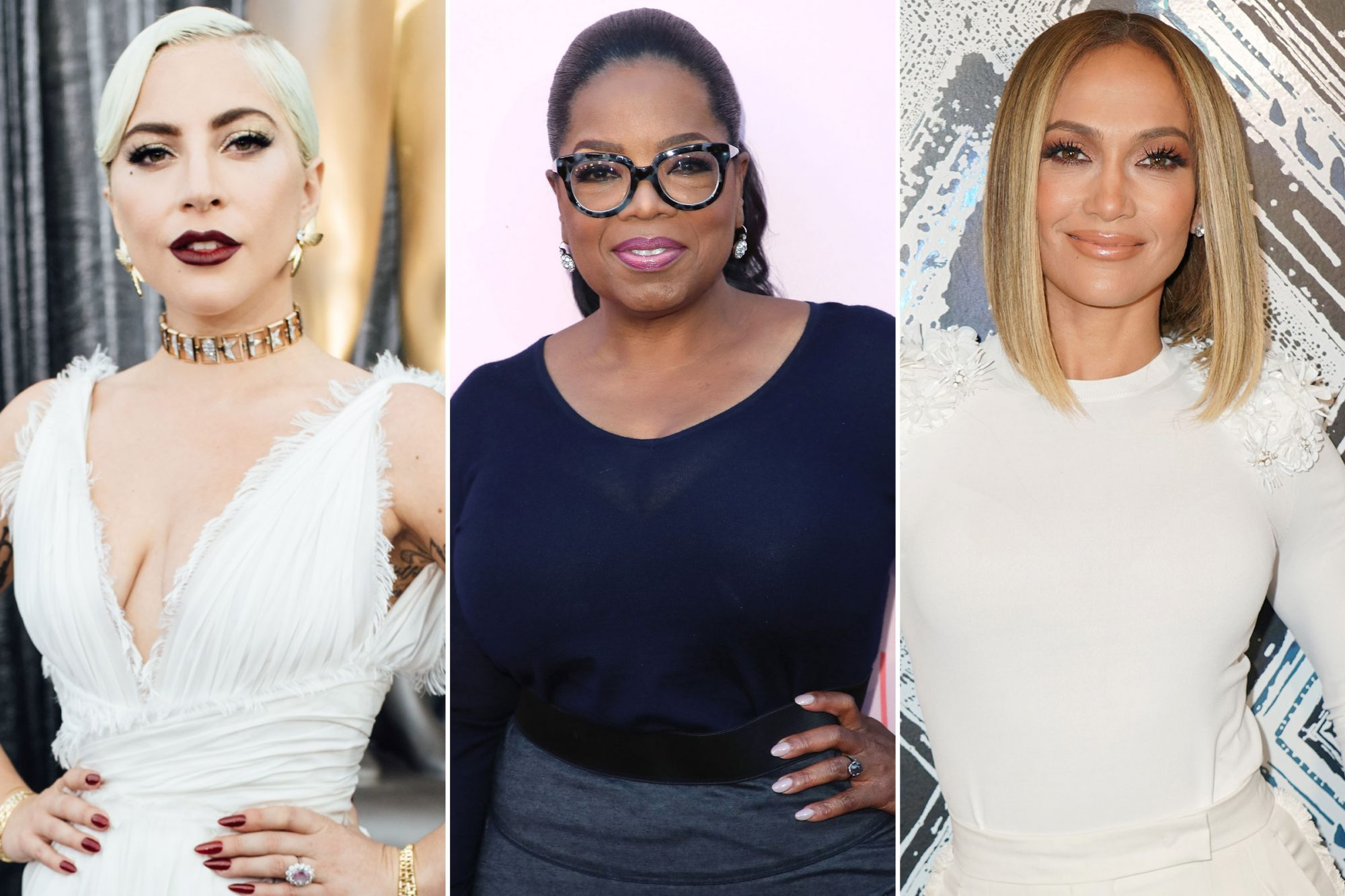 Lady Gaga; Oprah Winfrey; Jennifer Lopez