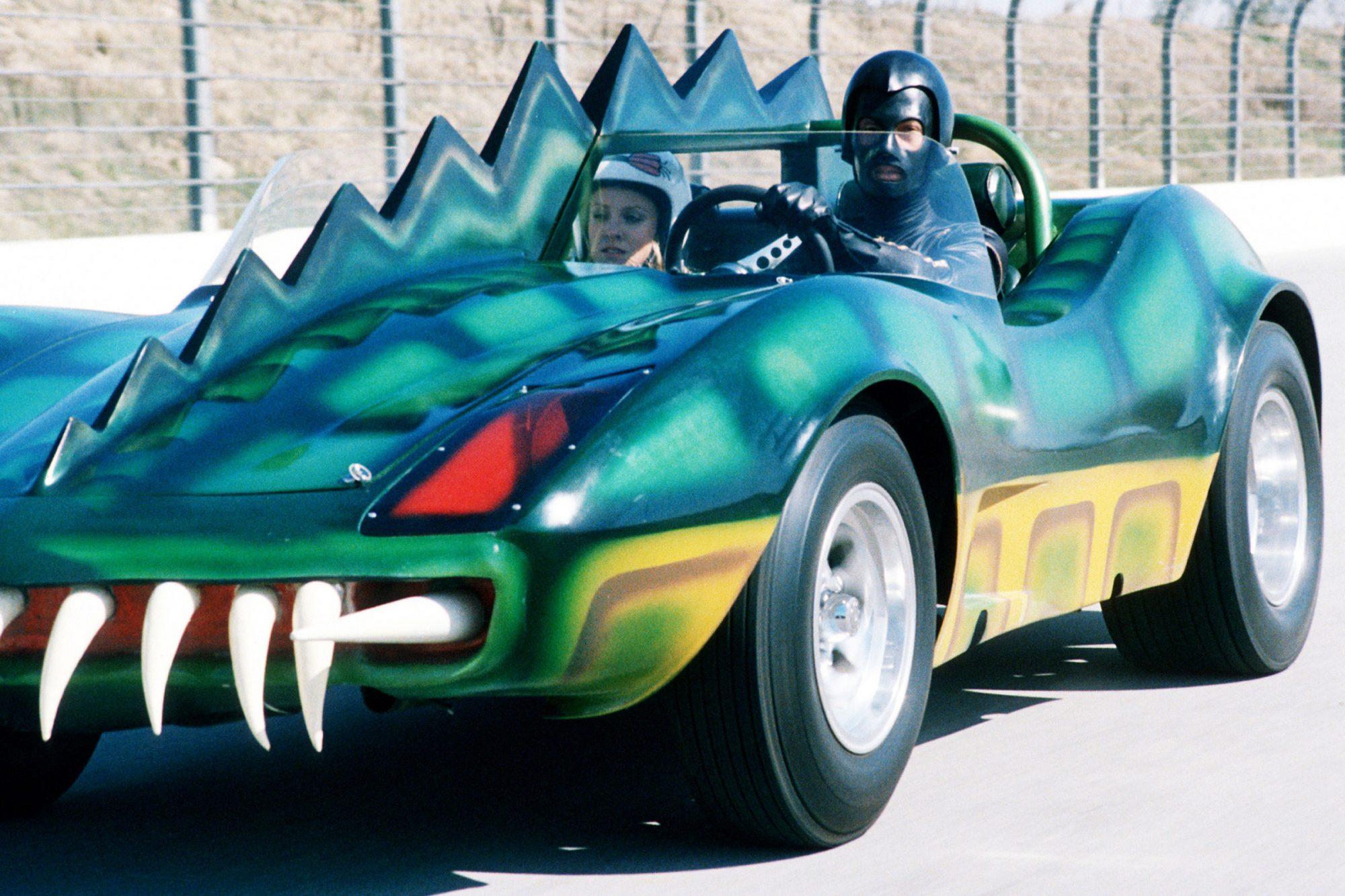 DEATH RACE 2000, David Carradine, 1975.