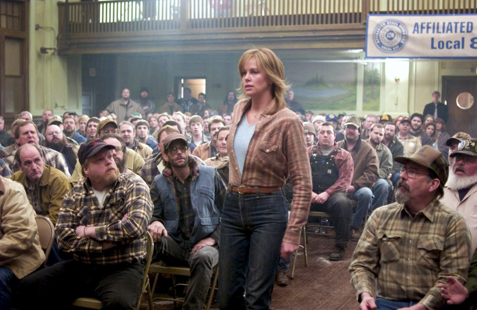 NORTH COUNTRY, Charlize Theron, (center), 2005, (c) Warner Brothers/courtesy Everett Collection