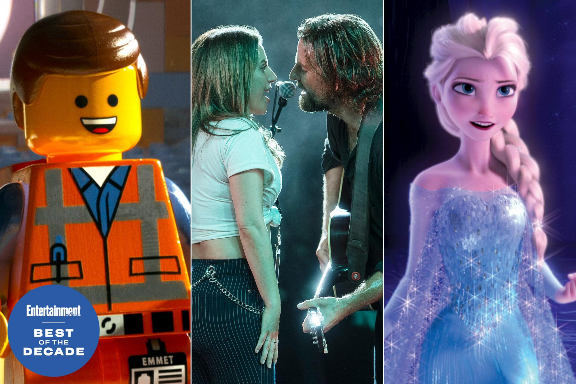 Lego Movie, Star is Born, Frozen