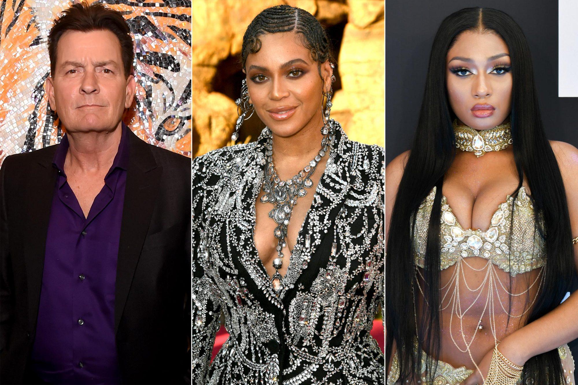 Charlie Sheen / Beyoncé / Megan Thee Stallion
