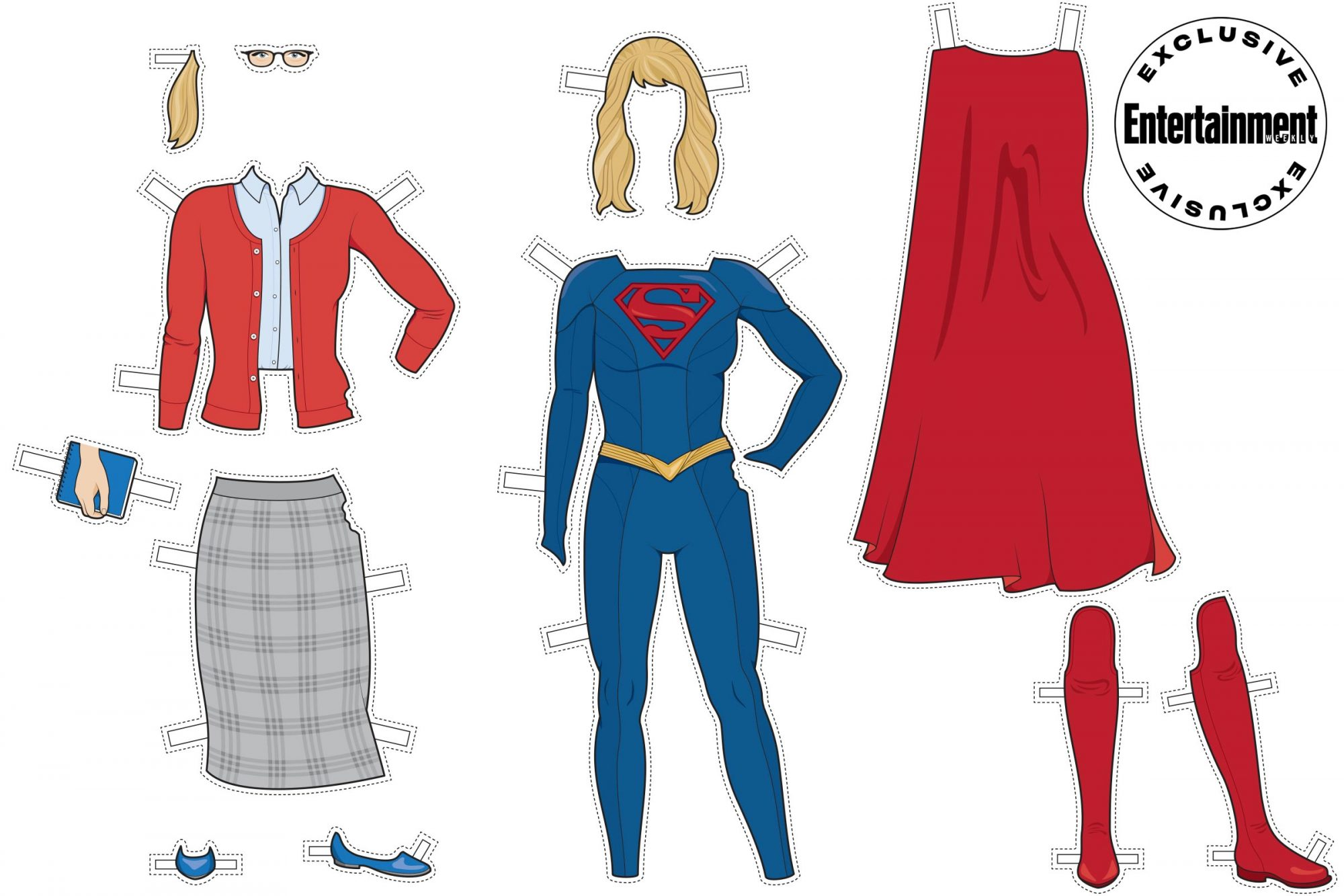 Supergirl paper doll