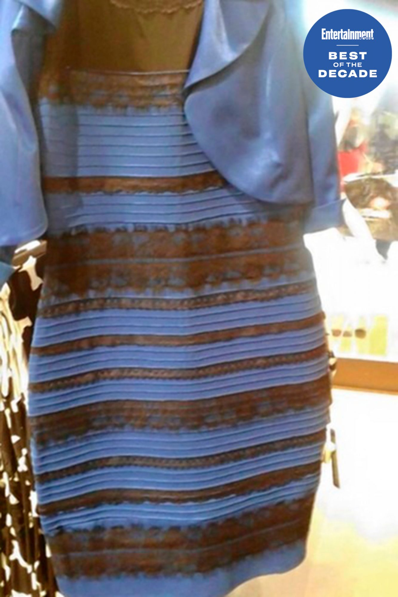 "The White Gold / Blue Black Dress Debate2015From tumblr user ""Swiked"""